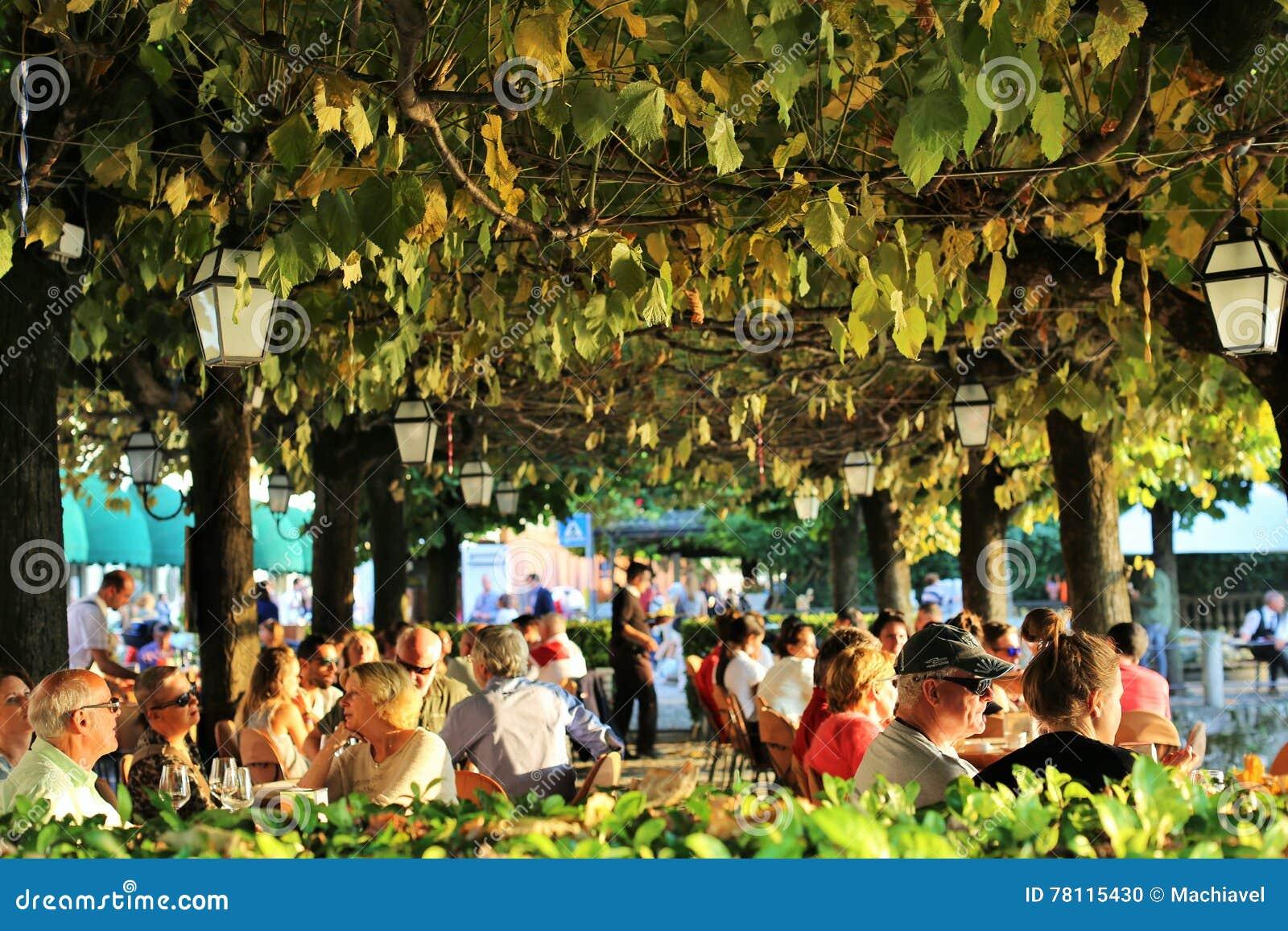 Bellagio Italien 24 September 2016 Ein Typisches Restaurant Mit