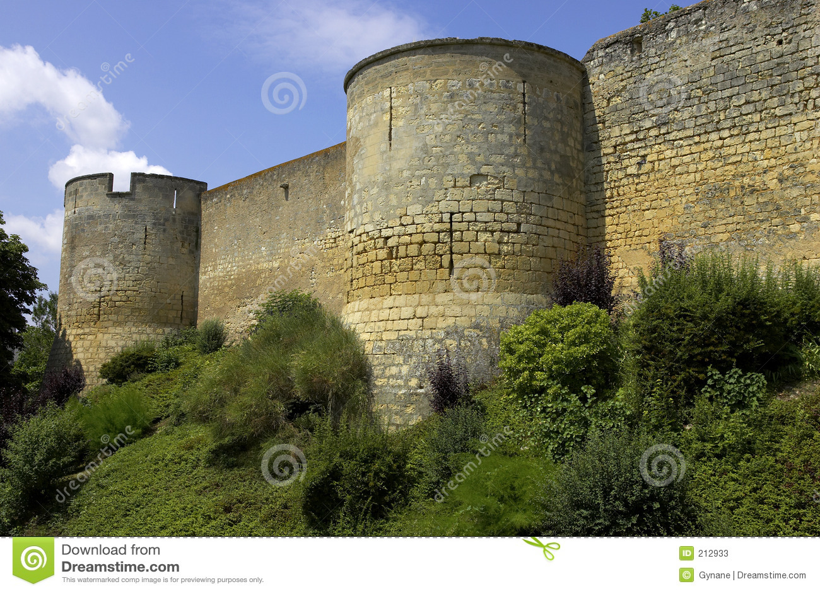 Bellay väggar för dal för slottfrance loire montreuil