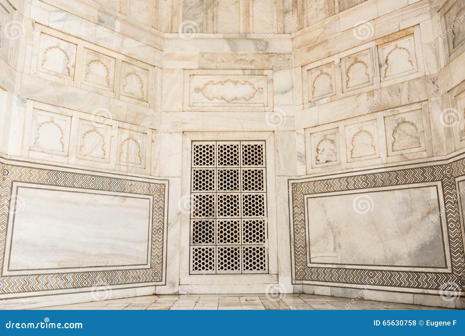 Belle architecture à l intérieur de Taj Mahal