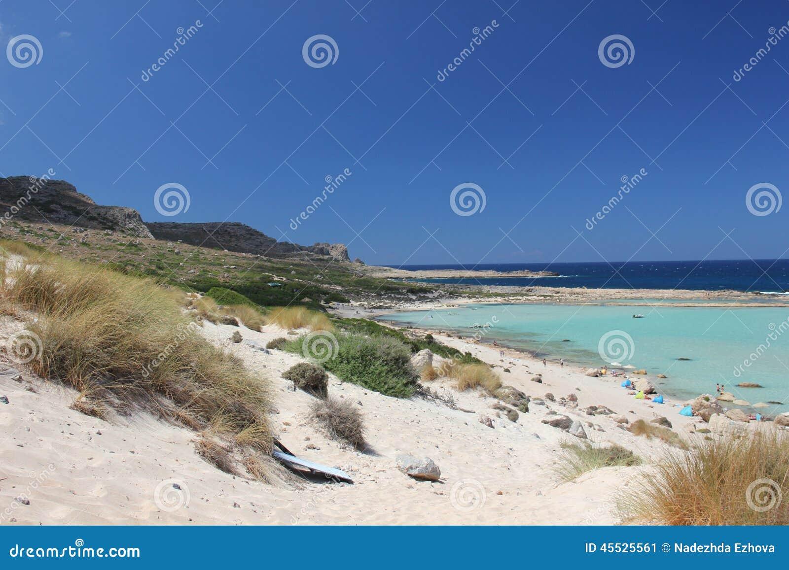Belle baie de Balos en Crète