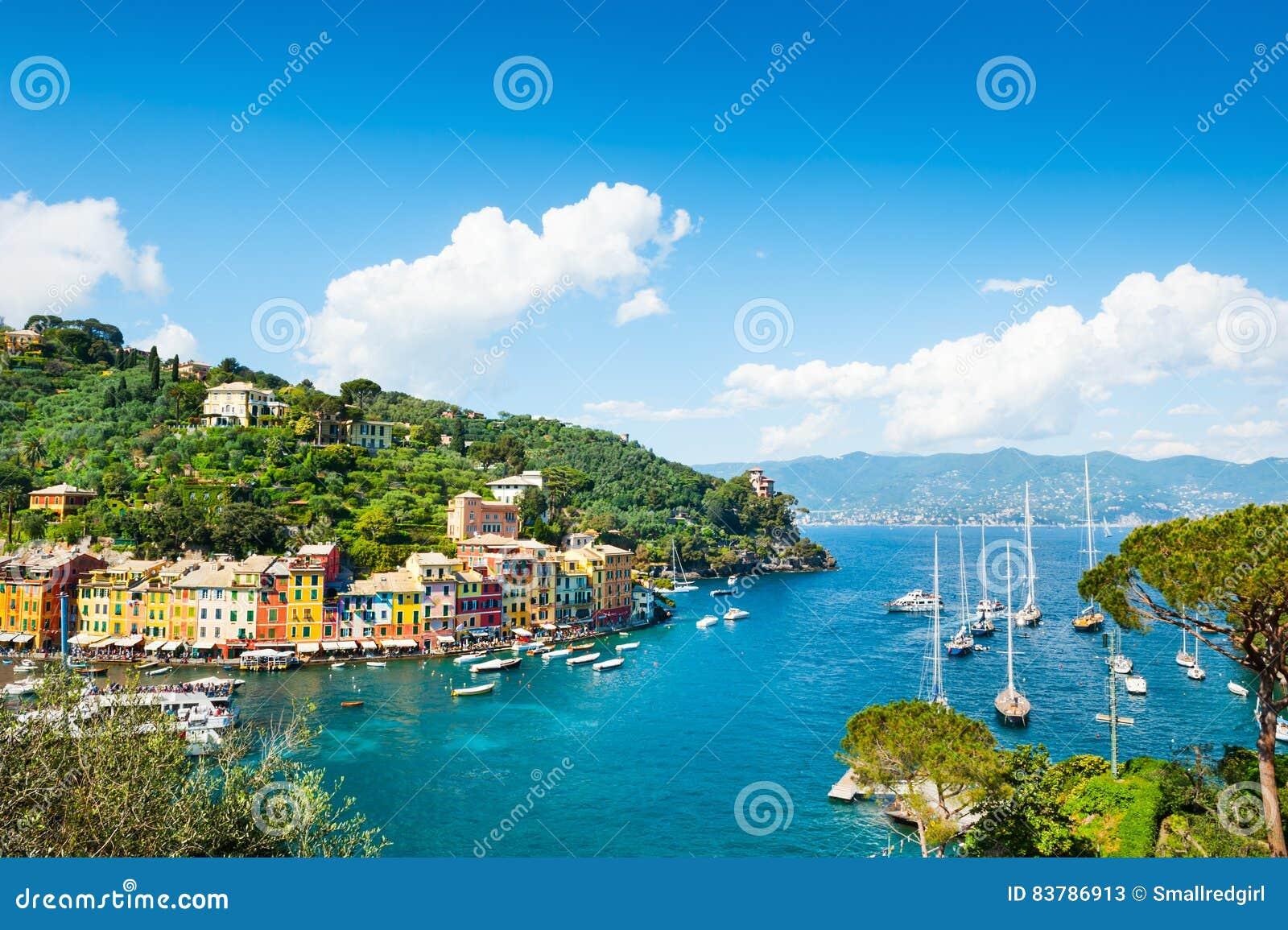 Belle c te dans portofino italie image stock image du for Dans italien