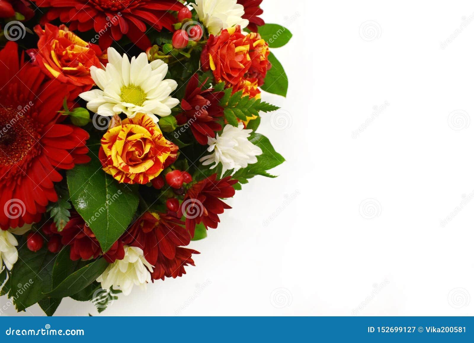 Bouquet De Fleur Pour St Valentin belle carte de voeux de fleur copiez l'espace image stock