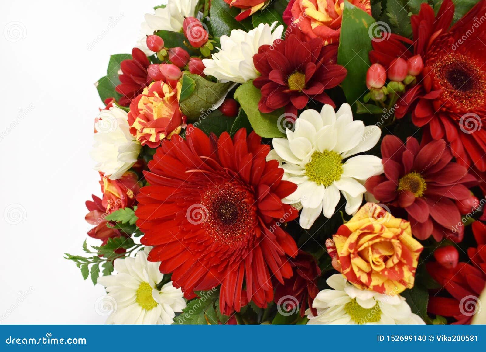 Bouquet De Fleur Pour St Valentin belle carte de voeux de fleur copiez l'espace photo stock