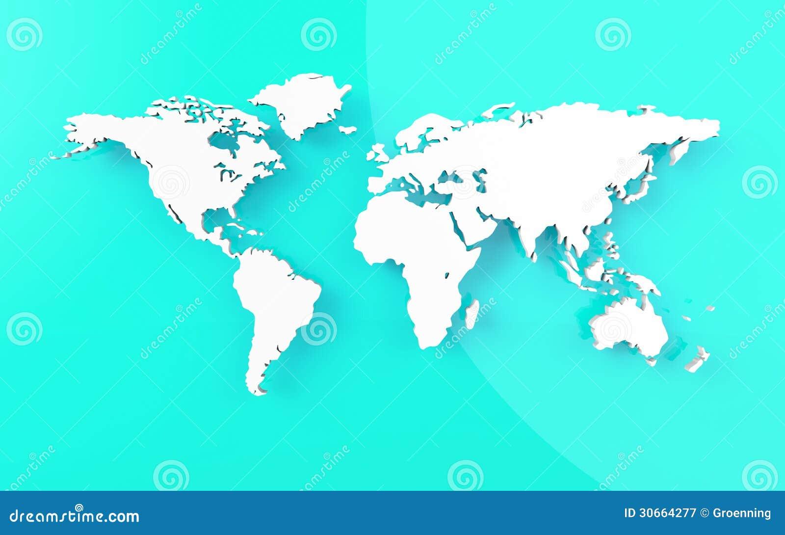 belle carte du monde sur le fond bleu photographie stock libre de droits image 30664277. Black Bedroom Furniture Sets. Home Design Ideas