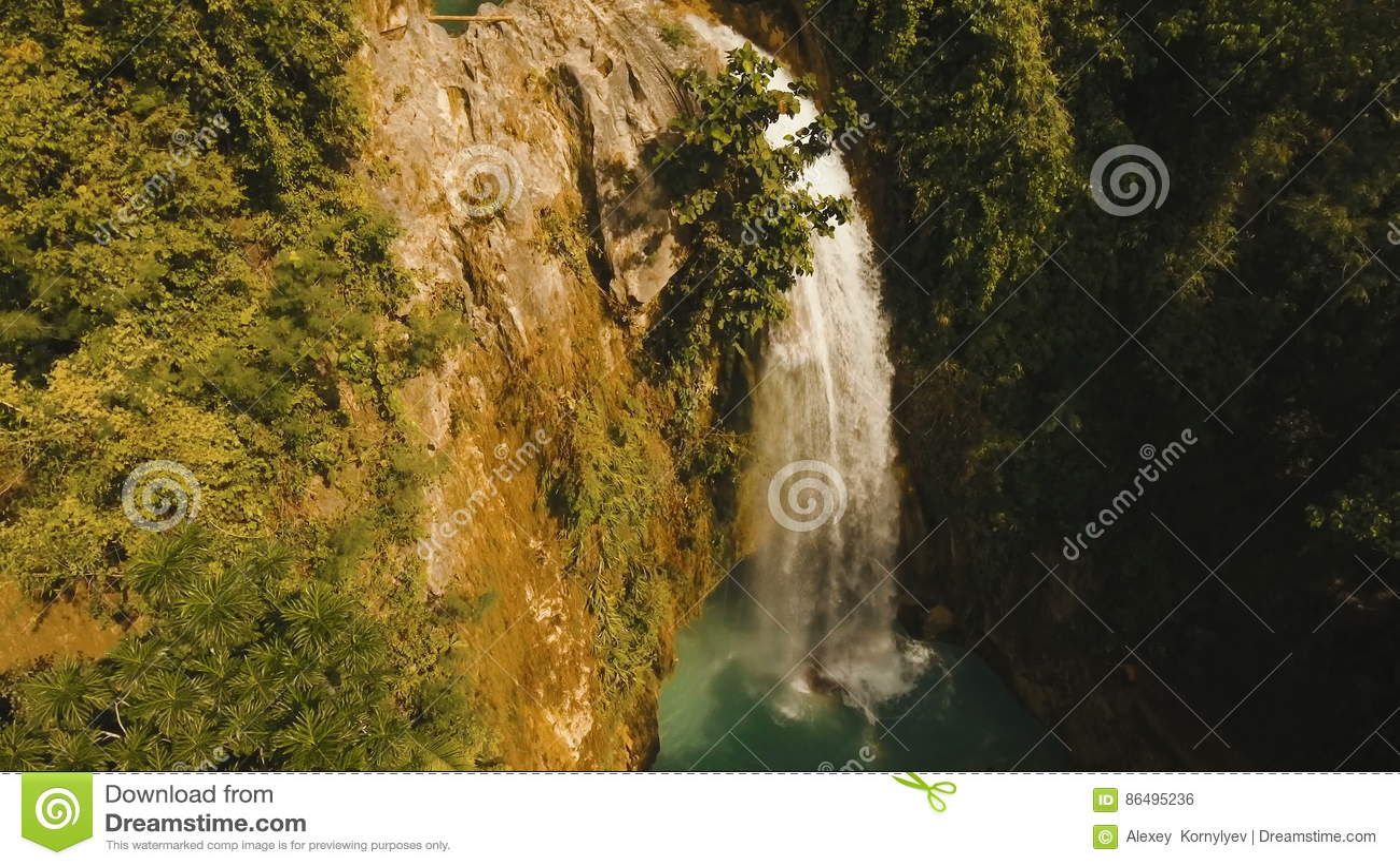 Bevorzugt Belle Cascade à écriture Ligne Par Ligne Tropicale Île De  PK47