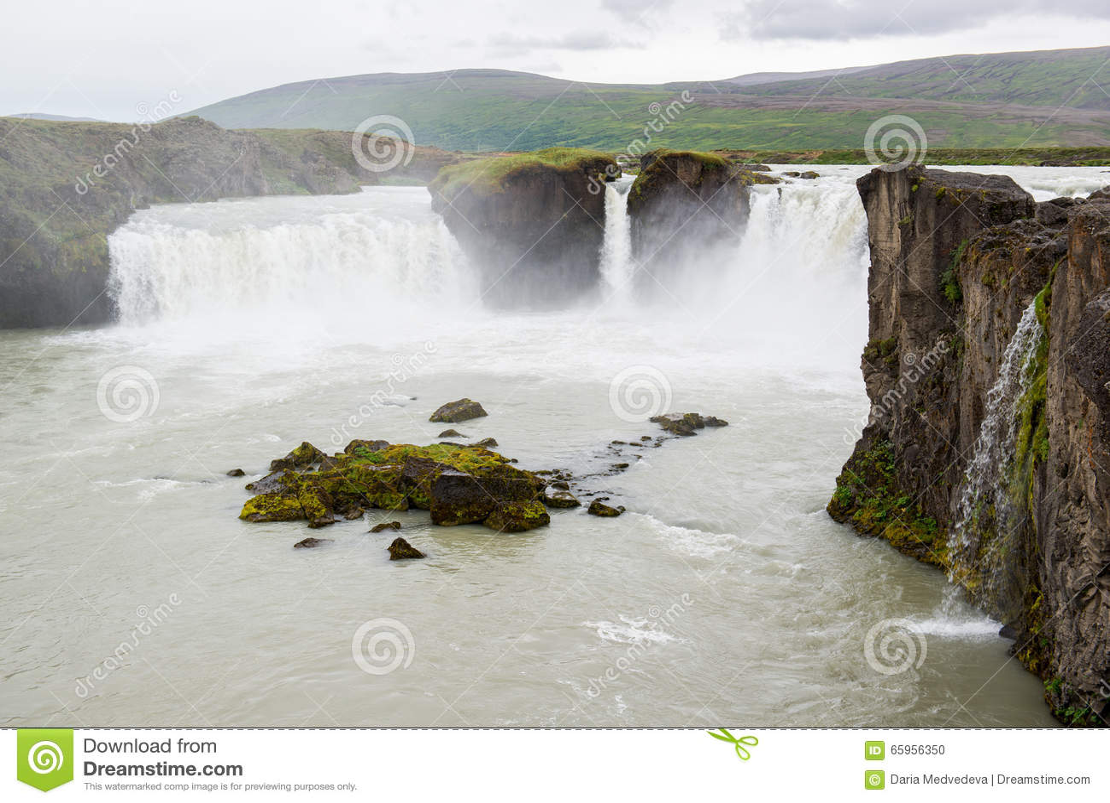 Belle cascade de Godafoss, Islande du nord