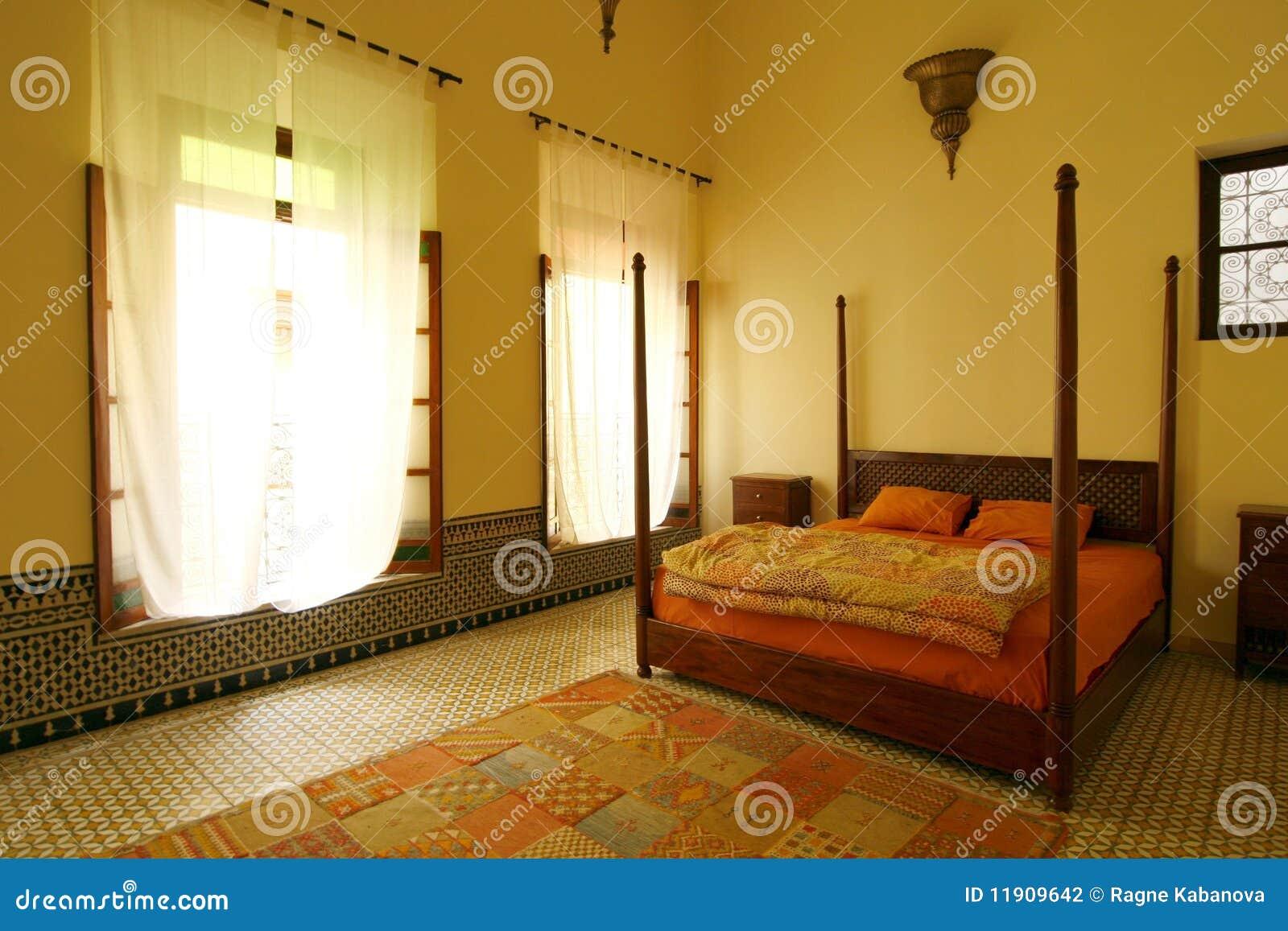 Belle Chambre Coucher Arabe Authentique Maroc Photographie Stock Image 11909642