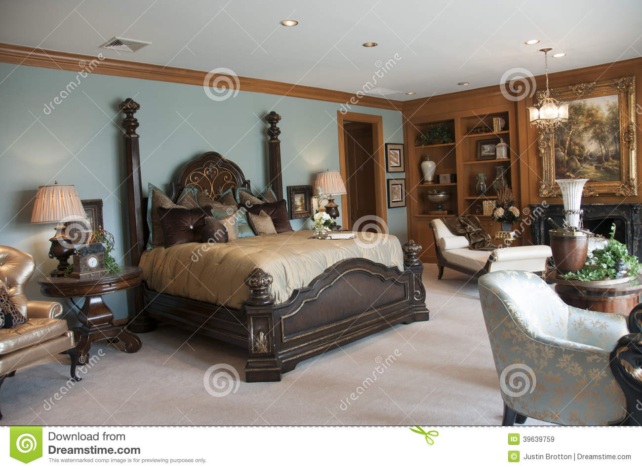 Belle Chambre Coucher Principale Photo Stock Image