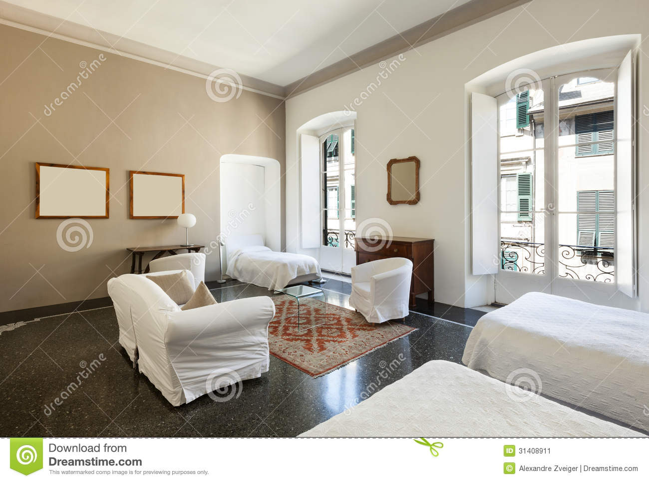 Belle chambre d 39 h tel image stock image 31408911 for Chambre d hotels