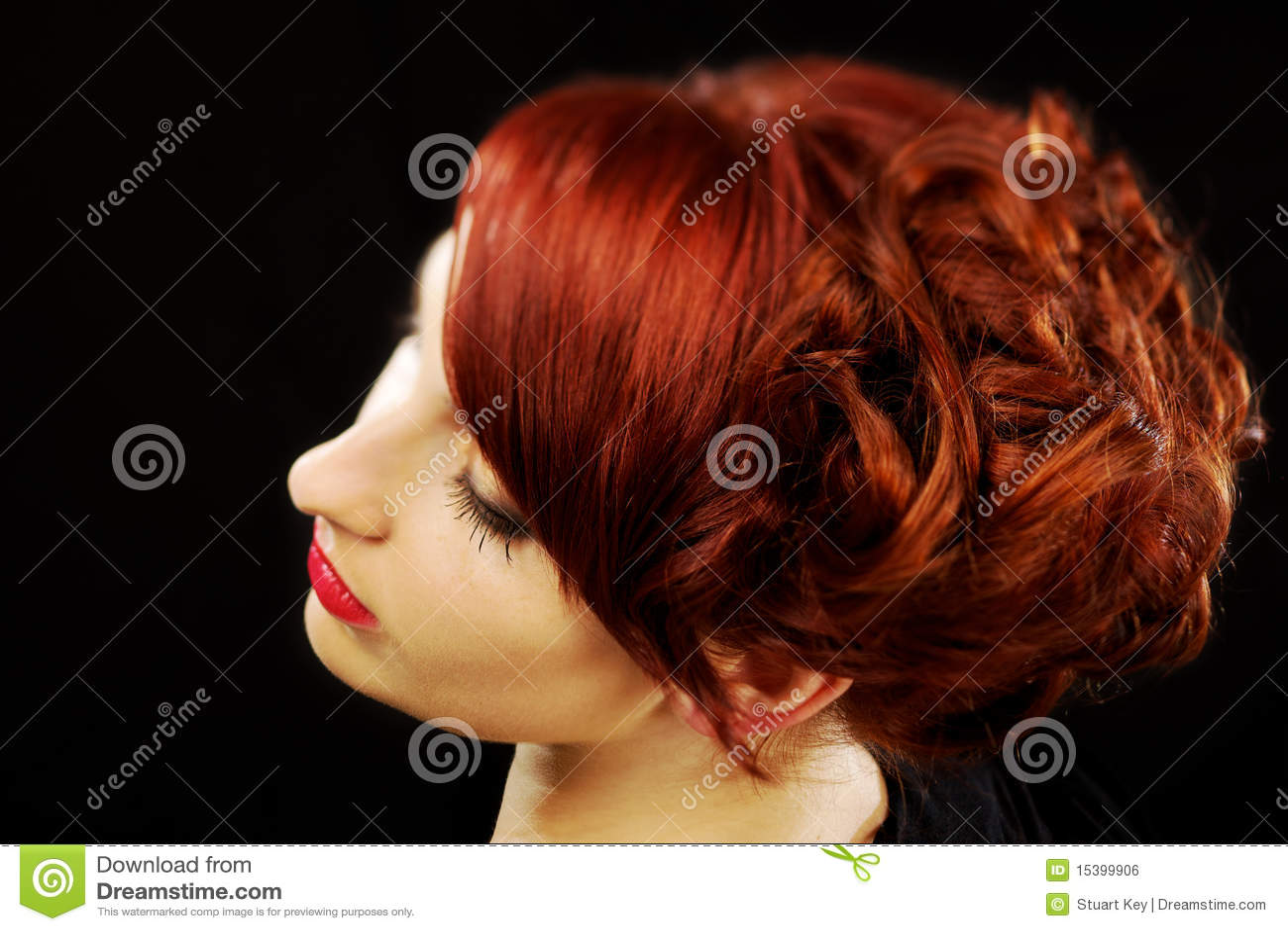 Belle coiffure rouge