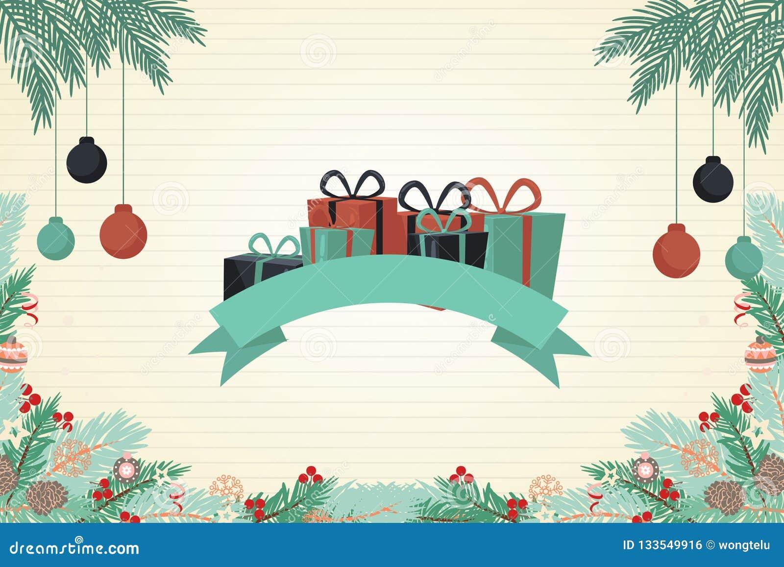 Belle Couleur De Carte De Voeux De Noël Photo stock   Image du