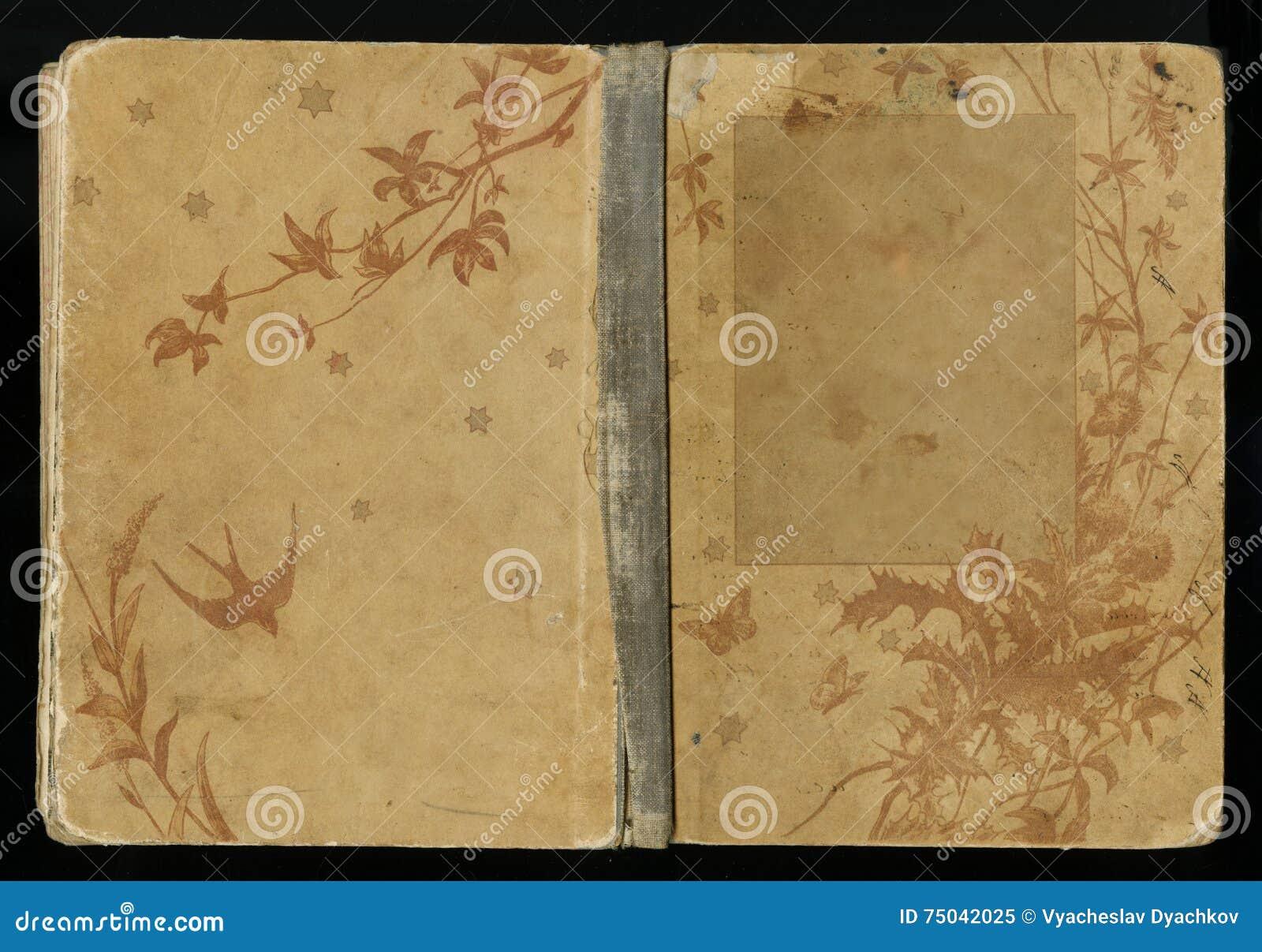 Beautiful Book Cover Up ~ Belle couverture d un livre de vintage avec le cadre