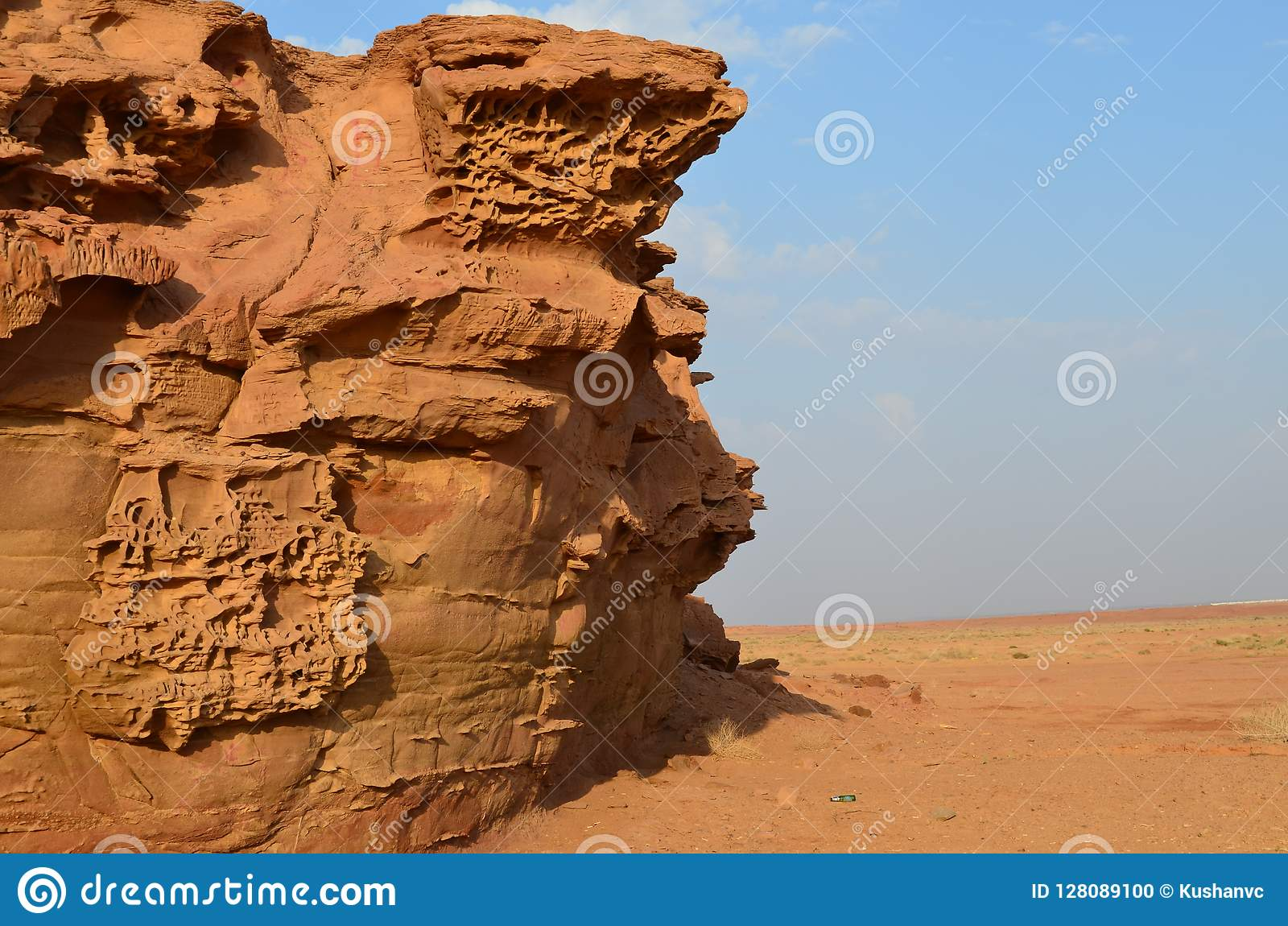 Belle création de la nature dans le désert saoudien