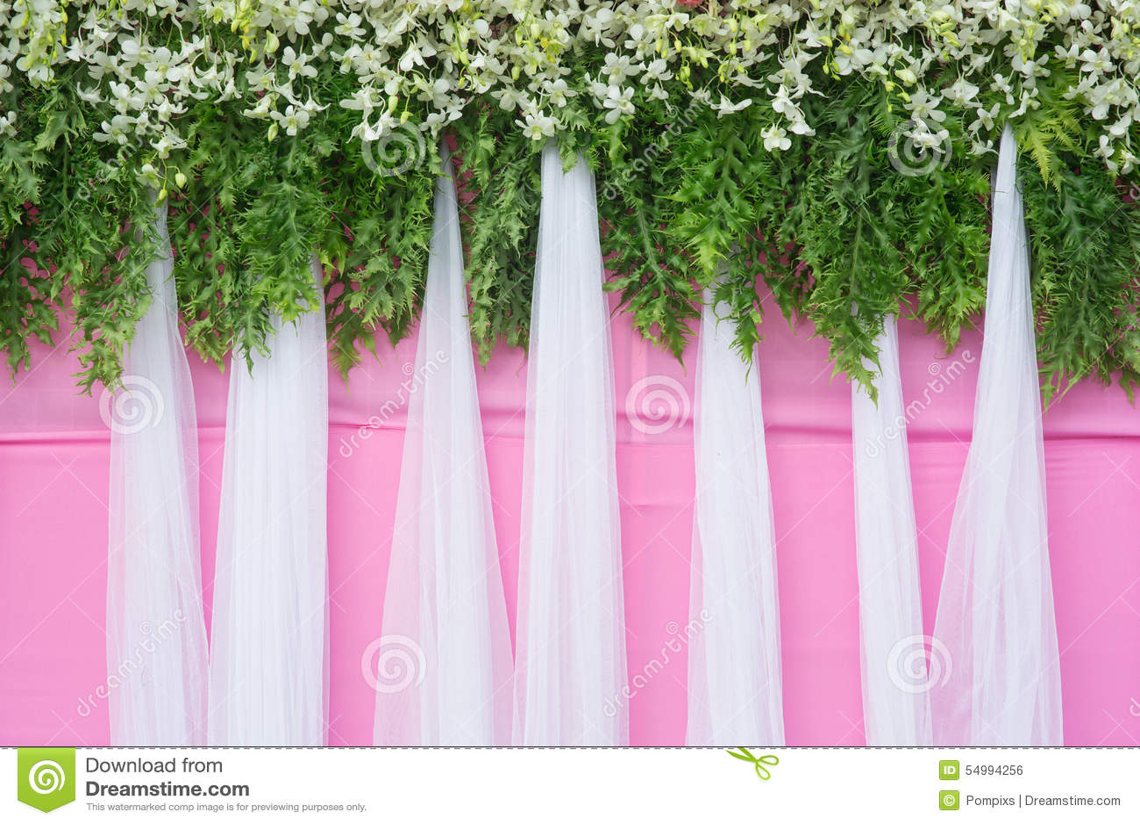 Belle décoration de mariage de fleur de fond