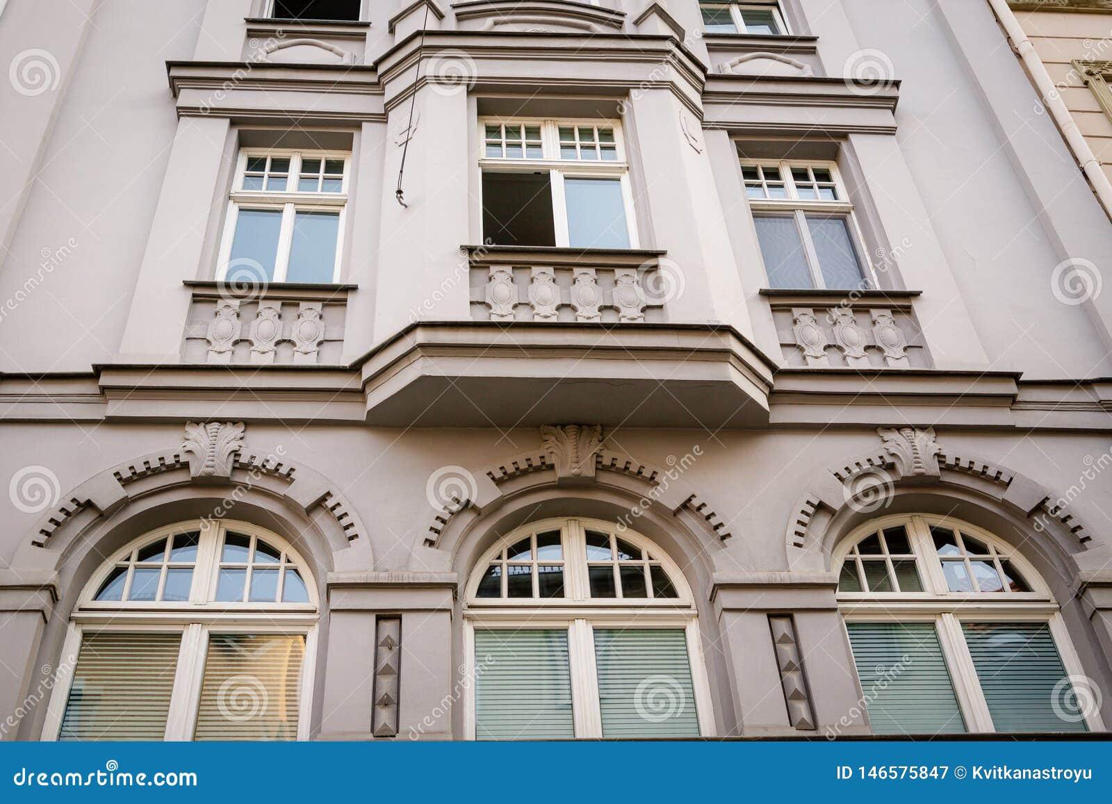 Belle fa?ade de la vieille maison Fragment, d?tail I?na, Allemagne