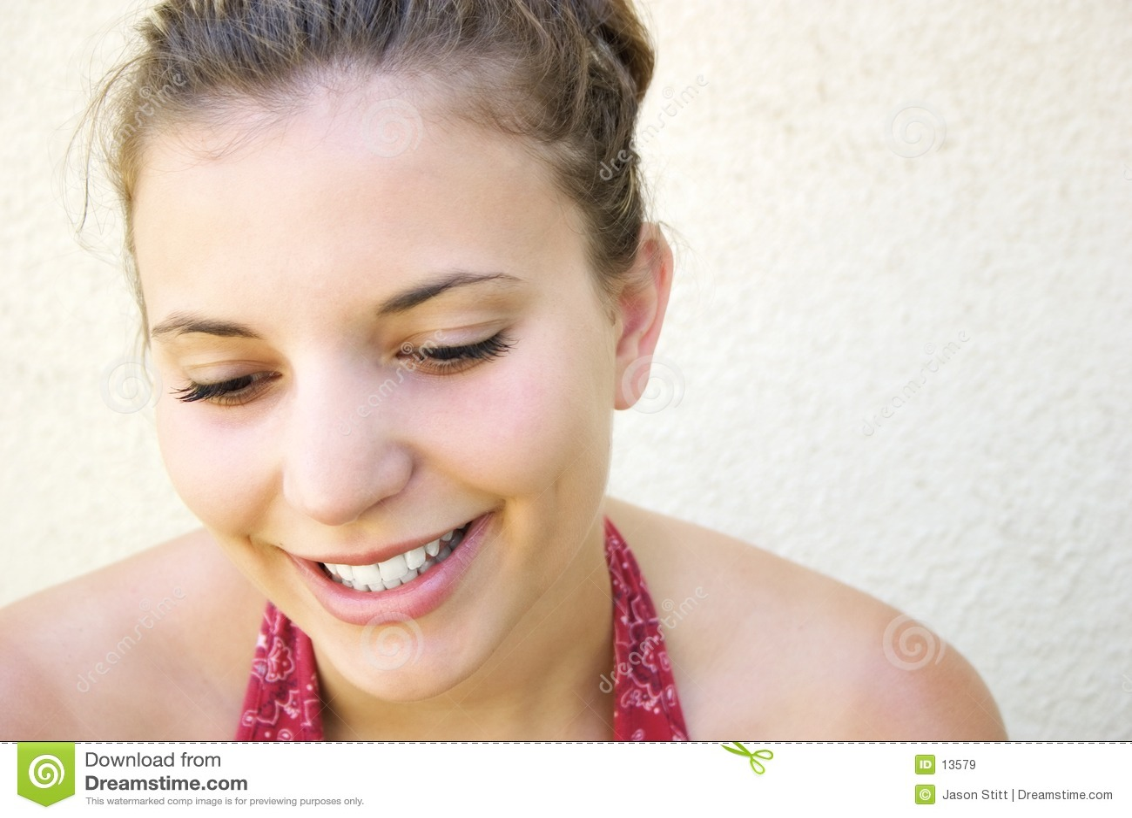 Belle femme de sourire