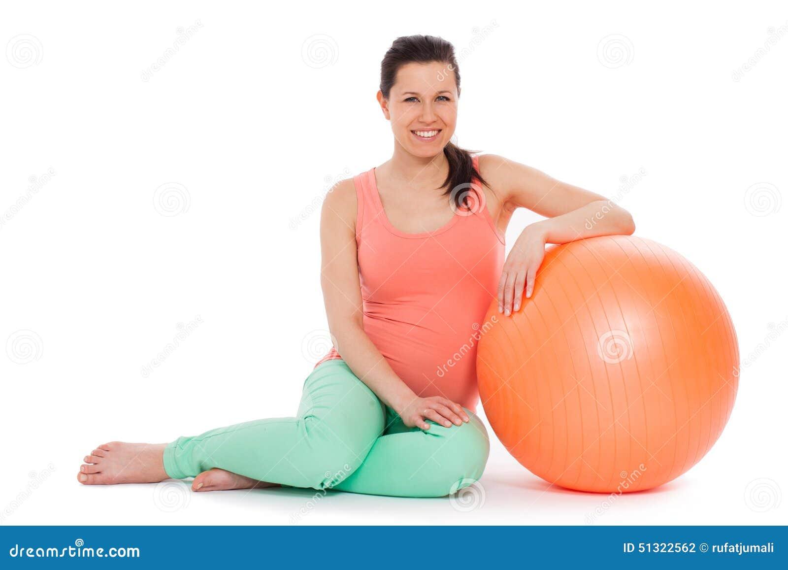 belle femme enceinte avec la boule photo stock image du pr voir parent 51322562. Black Bedroom Furniture Sets. Home Design Ideas