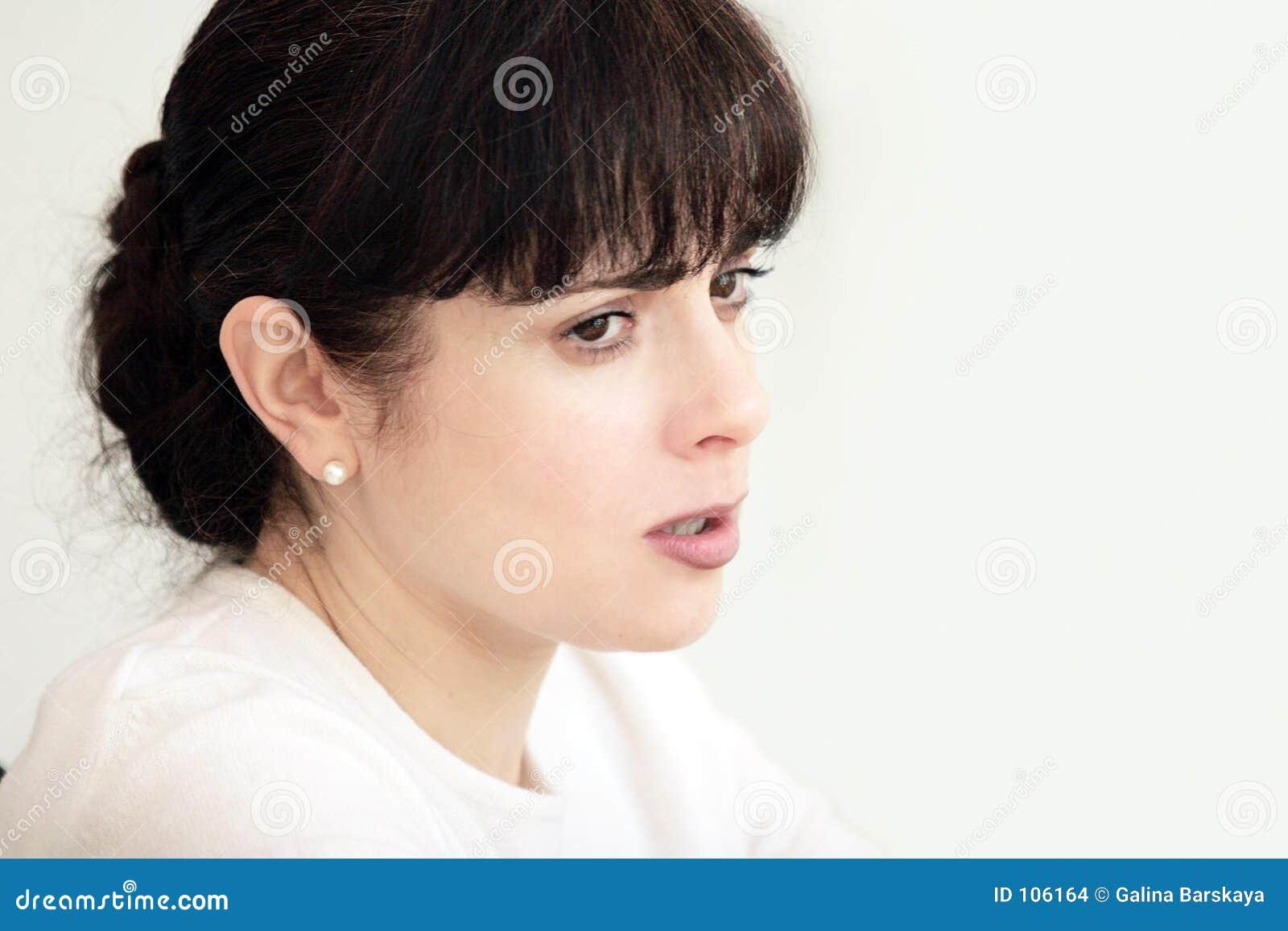 Belle femme triste