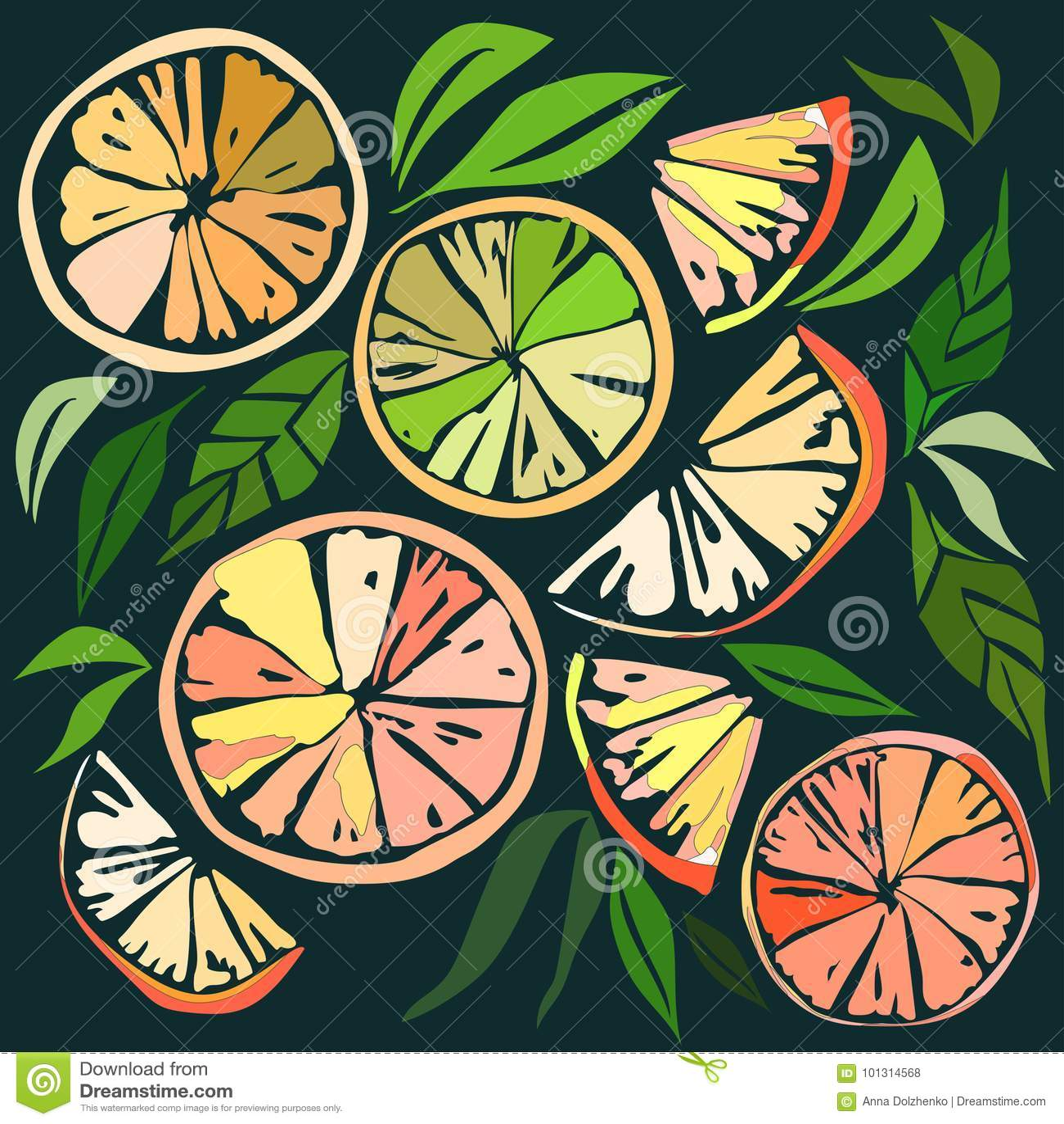 Belle fette arancio adorabili succose mature squisite saporite deliziose variopinte luminose del dessert di autunno di estate di