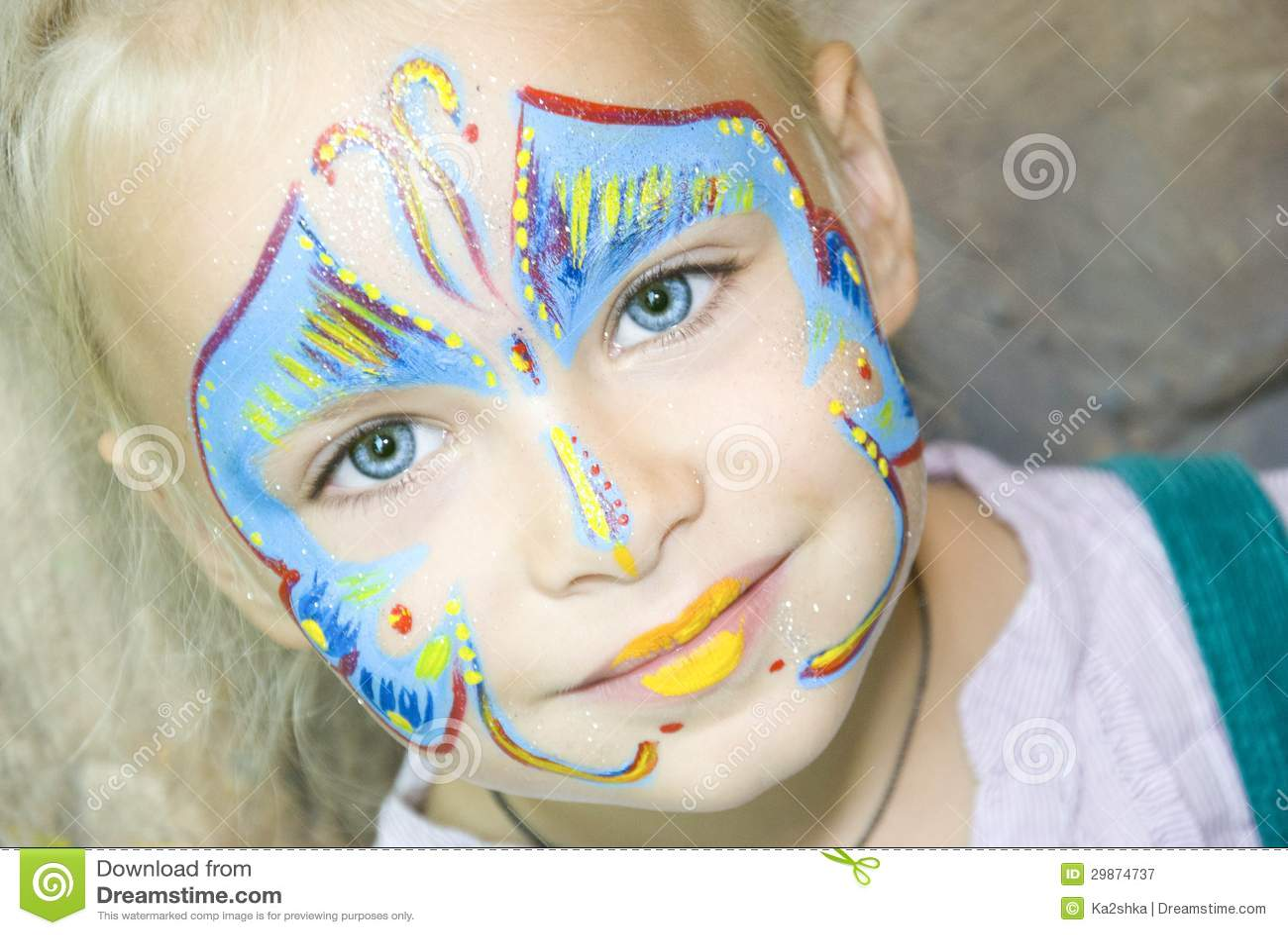 Peinture de visage photographie stock libre de droits image 29874737 - Peinture sur visage ...