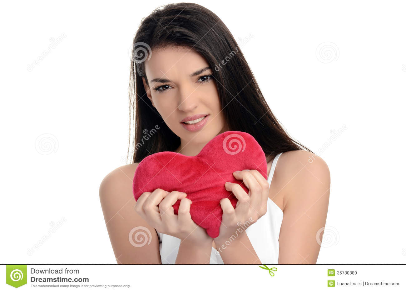 ryhjrt une jeune fille tenant un cœur Couvre-lit en coton