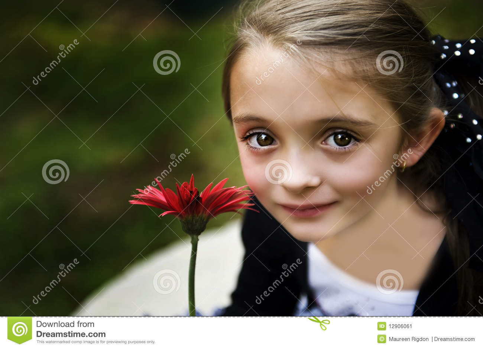 Belle fille de Brunette