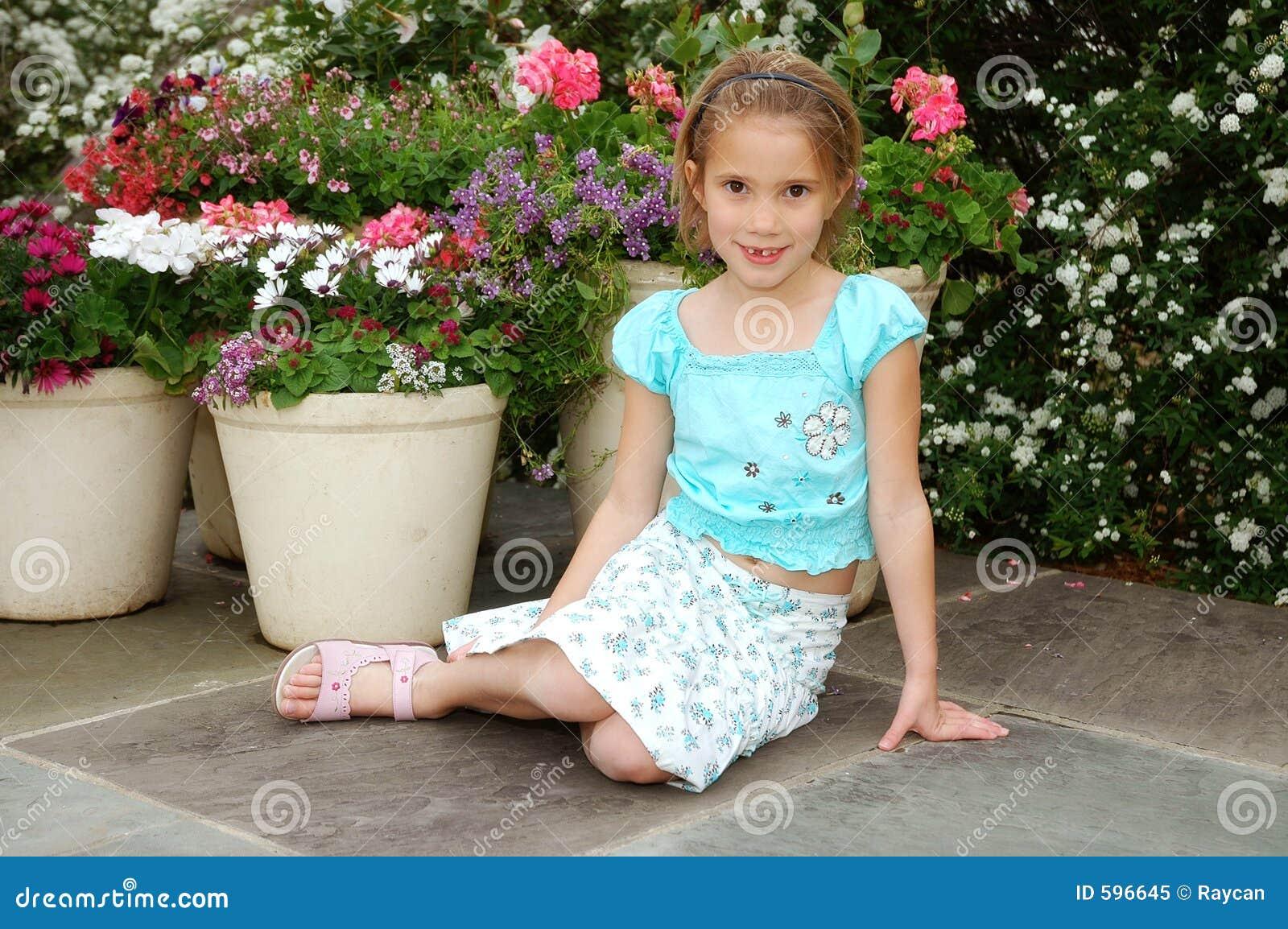 Belle fille de fleur