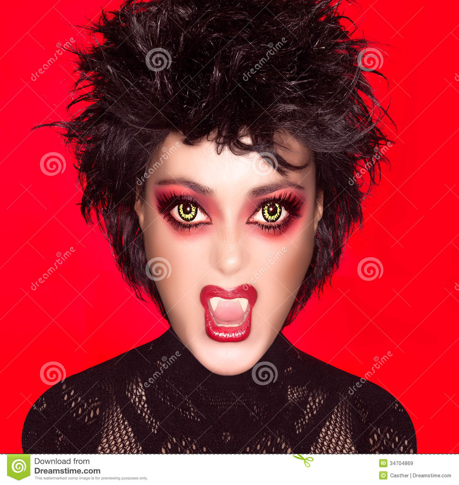 belle fille gothique maquillage de vampire caricature. Black Bedroom Furniture Sets. Home Design Ideas
