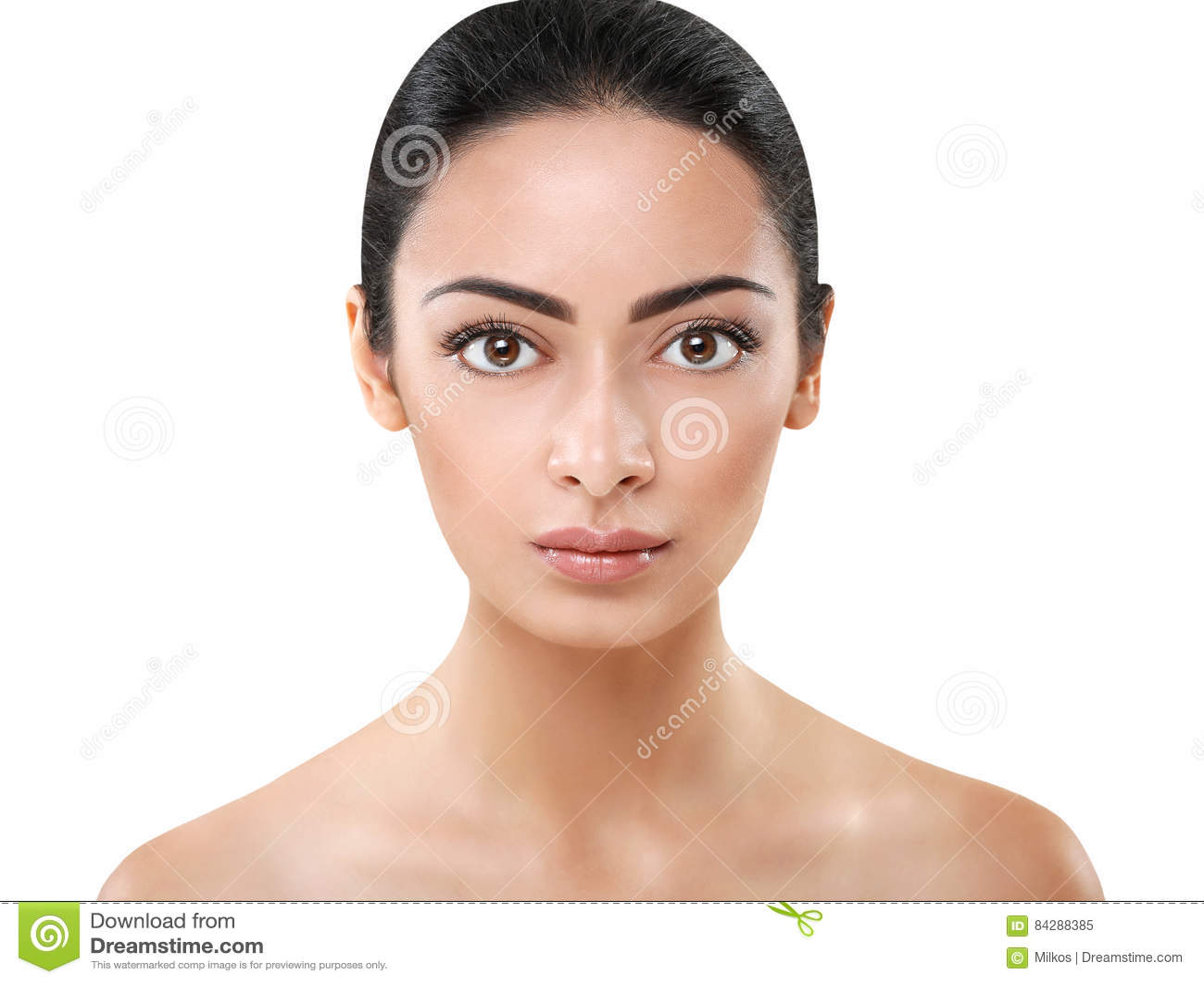 belle fille indienne avec la peau parfaite visage propre image stock image du adulte concept. Black Bedroom Furniture Sets. Home Design Ideas