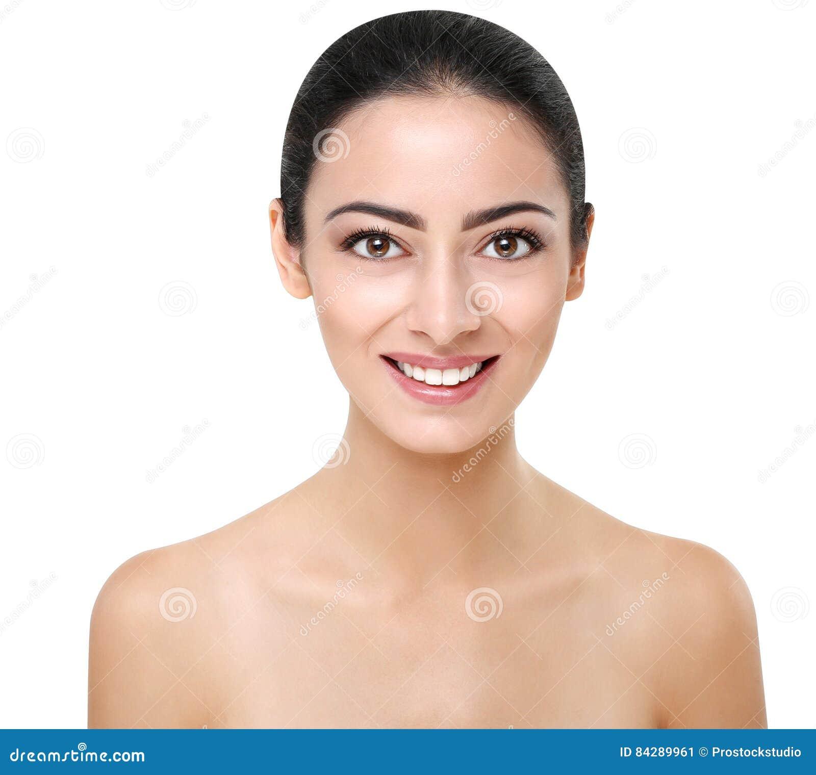 belle fille indienne avec la peau parfaite visage propre image stock image du adulte beaut. Black Bedroom Furniture Sets. Home Design Ideas