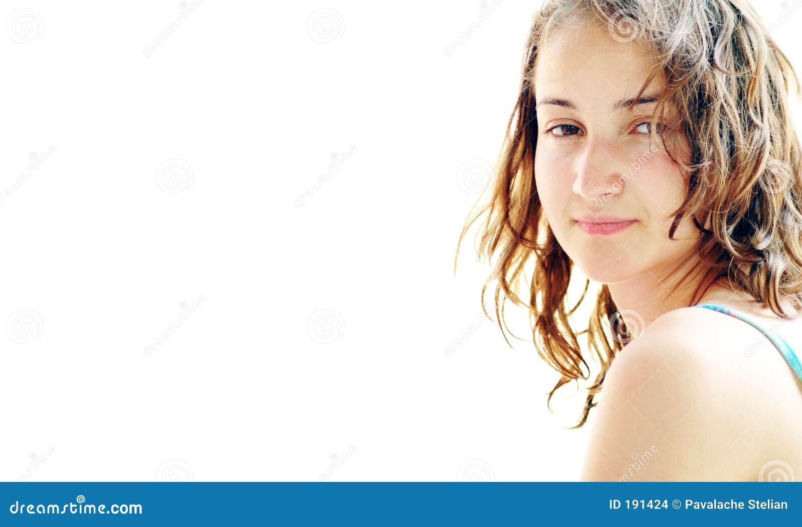 belle fille sur la plage 6 photo stock image du yeux compos 191424. Black Bedroom Furniture Sets. Home Design Ideas
