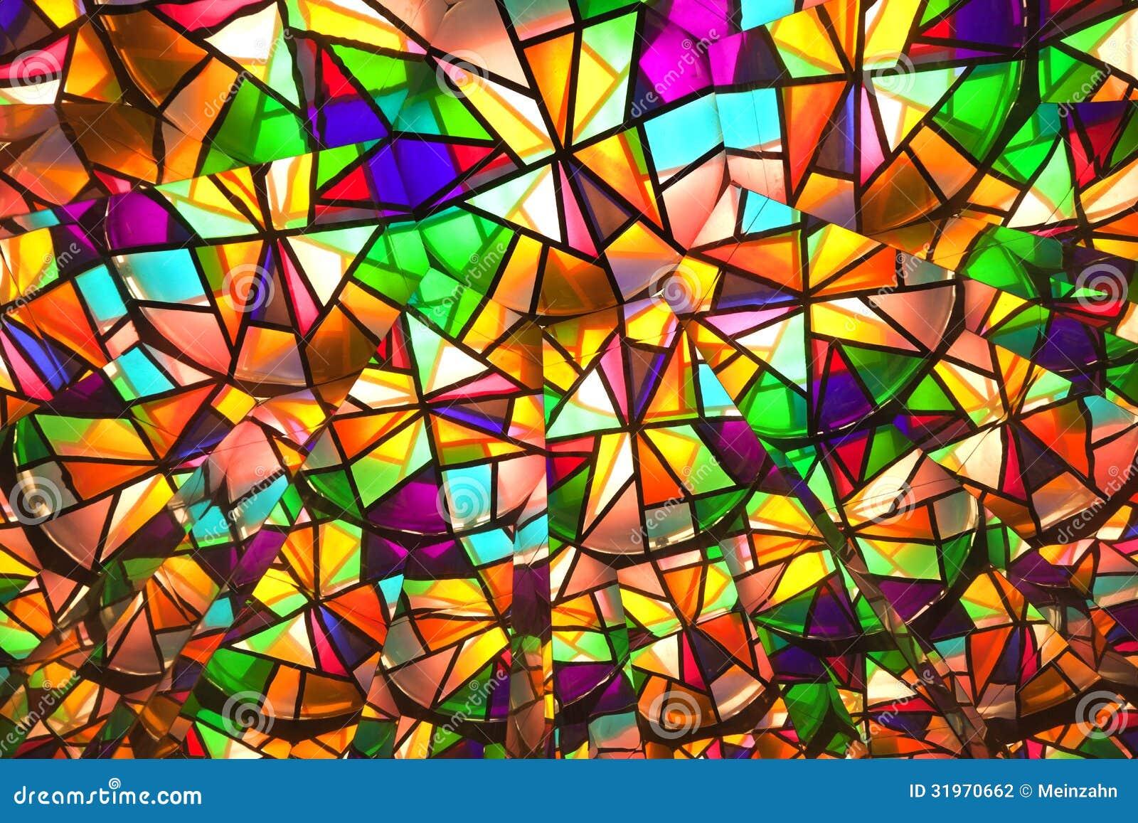 Belle finestre di vetro colorate con i pezzi asymetric fotografia stock immagine 31970662 - Vetri colorati per finestre ...