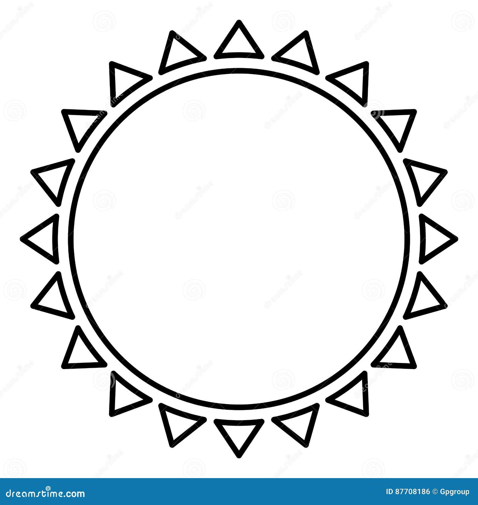 Belle icône d abrégé sur le soleil de découpe