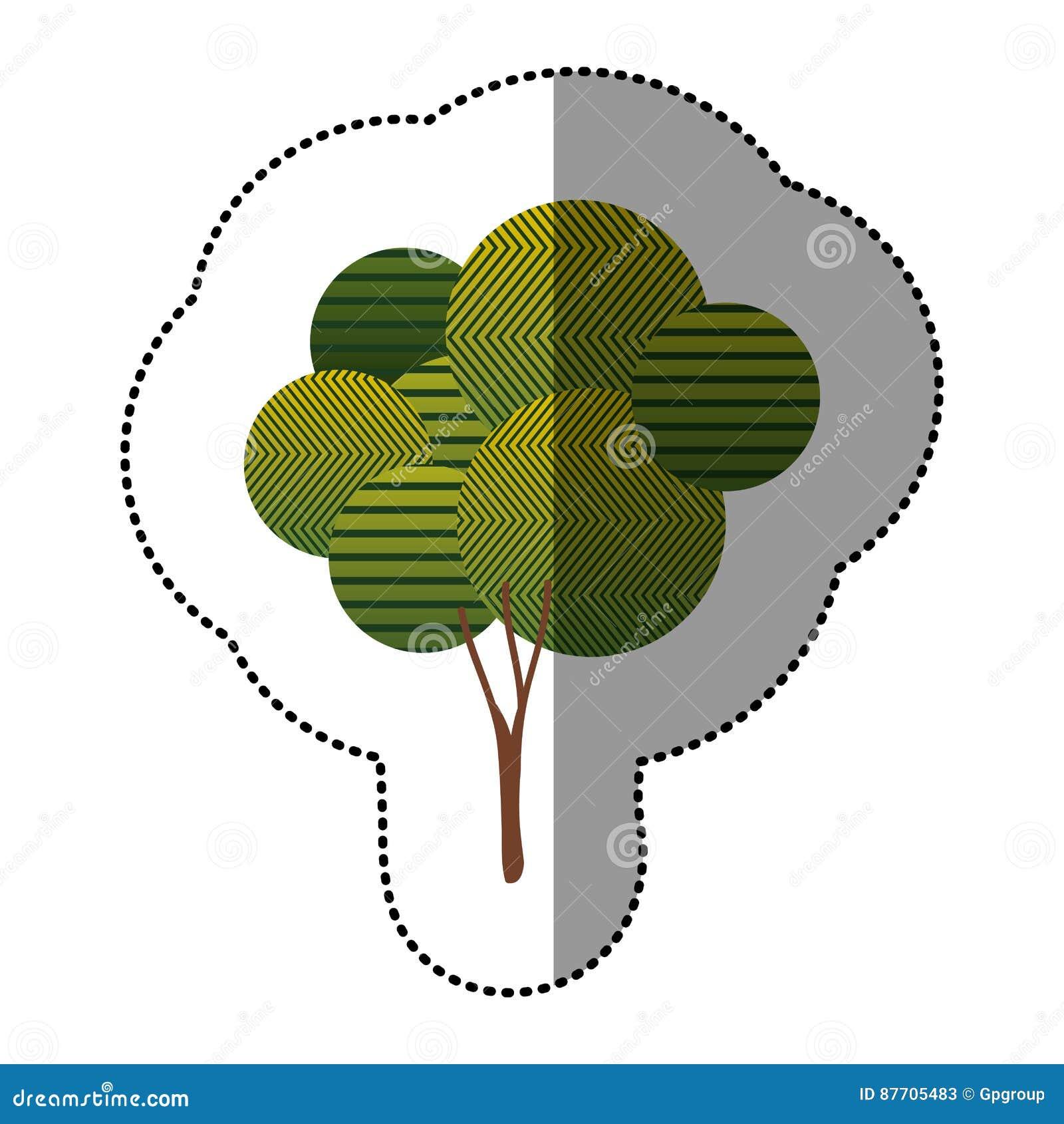 Belle icône d arbre d autocollant
