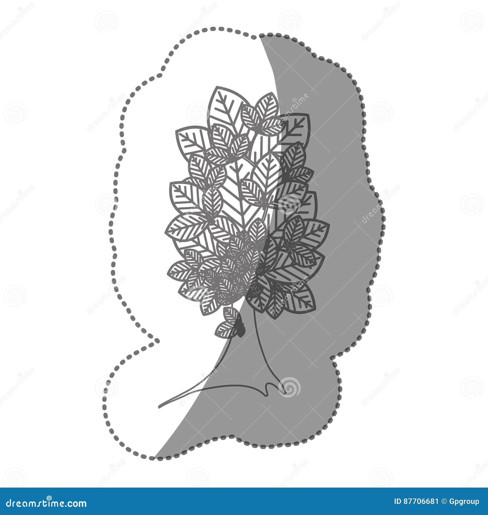 Belle icône d arbre de silhouette