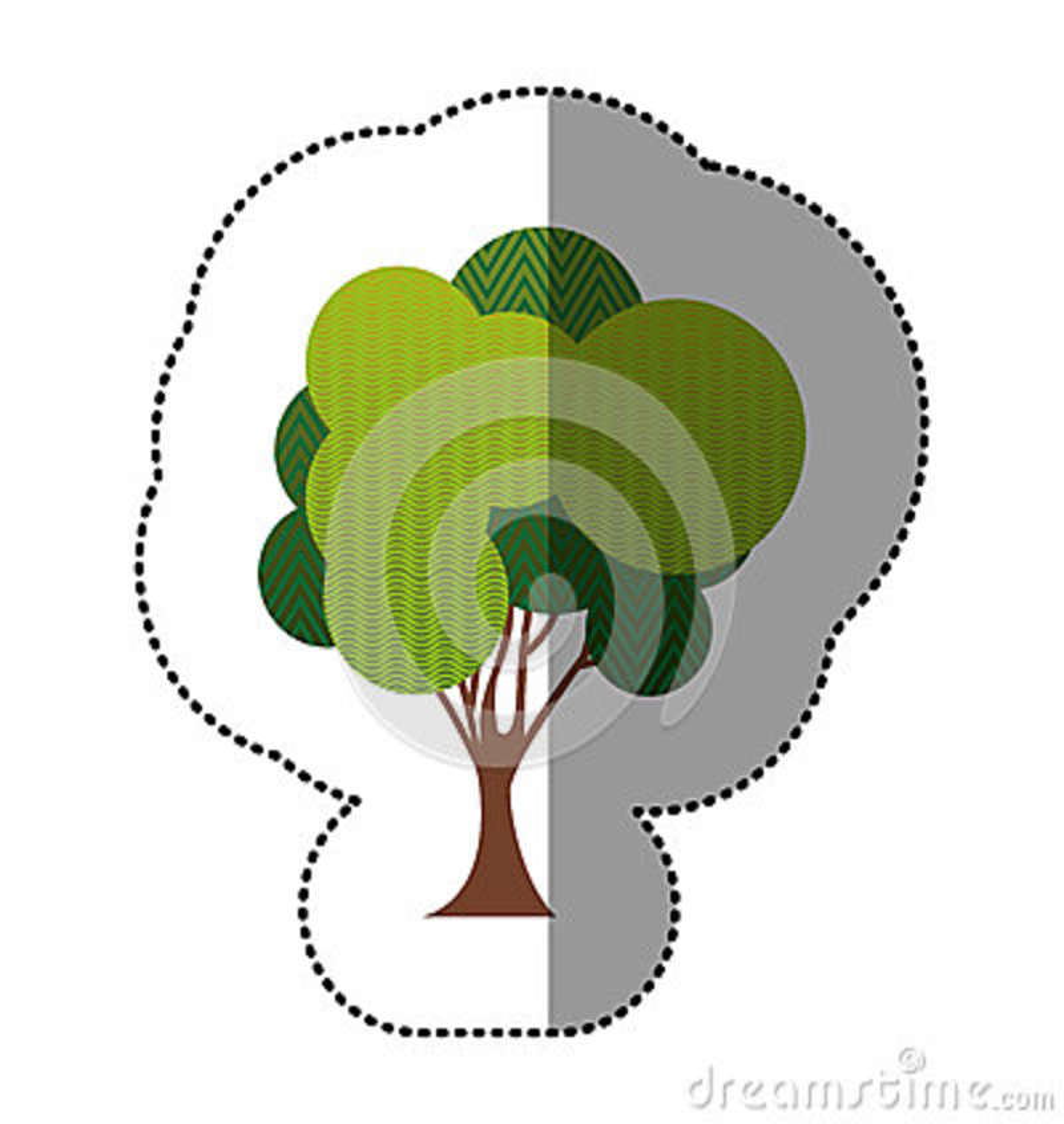 Belle icône d arbre de timbre