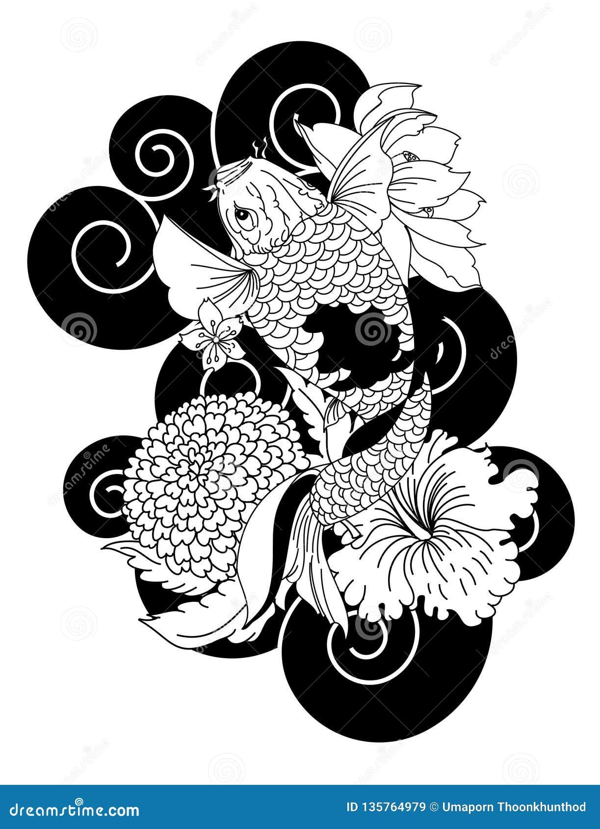 Belle Idee Japonaise De Livre De Coloriage Et De Tatouage De