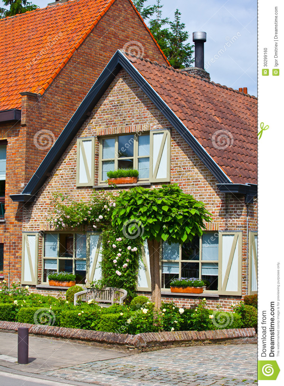 Belle maison de brique bruges la belgique photo stock for Image de belle maison