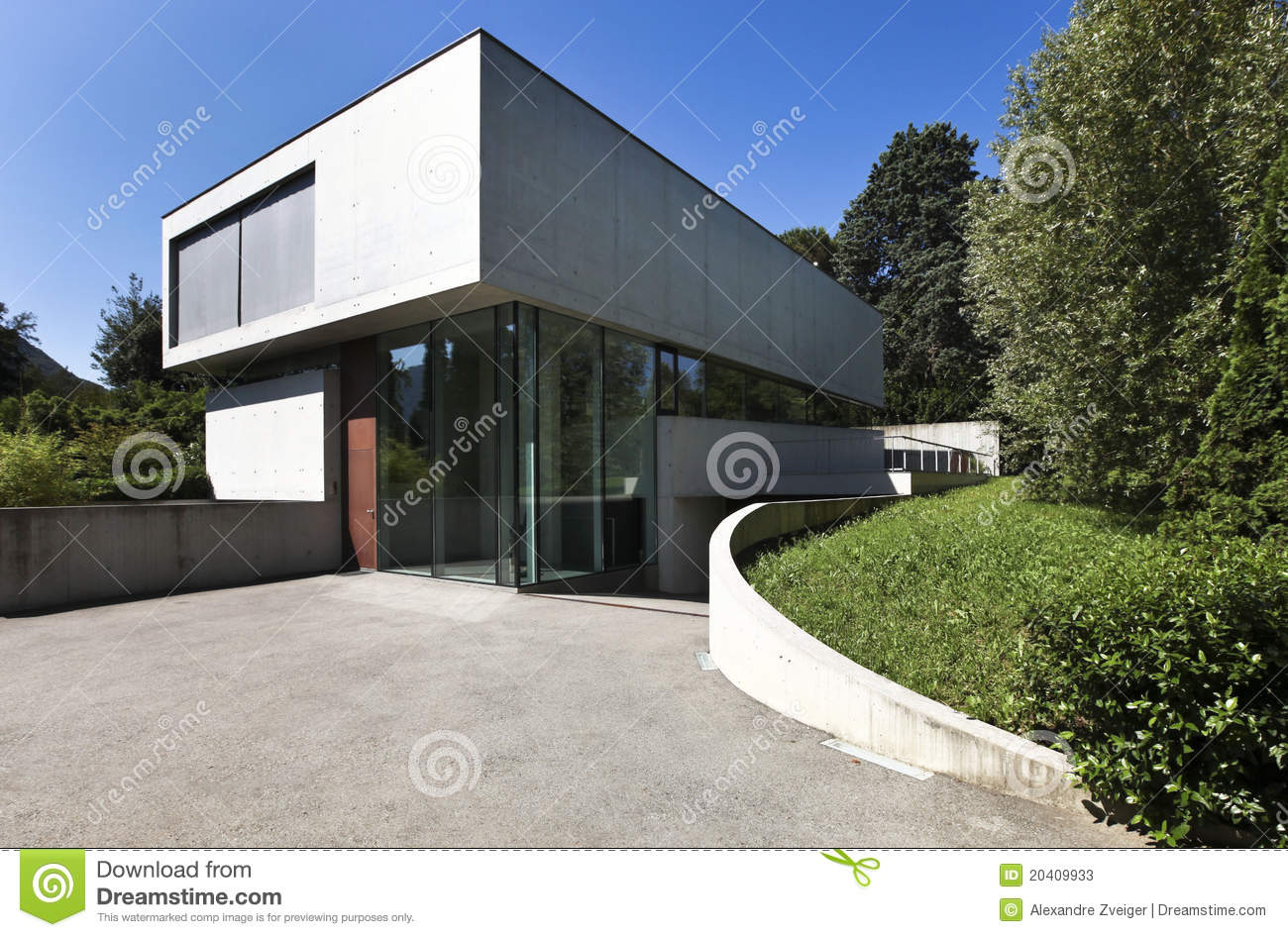 Belle maison moderne l 39 ext rieur photos stock image for Exterieur maison moderne
