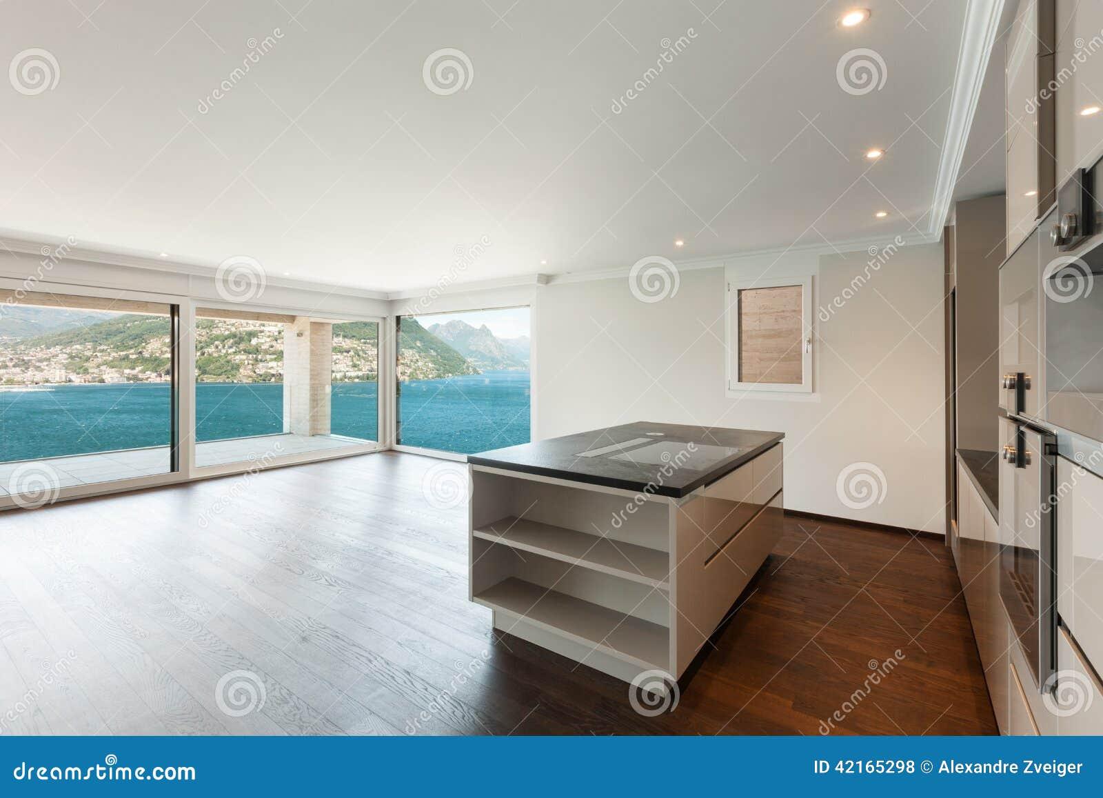 Belle maison moderne, cuisine photo stock   image: 42165298