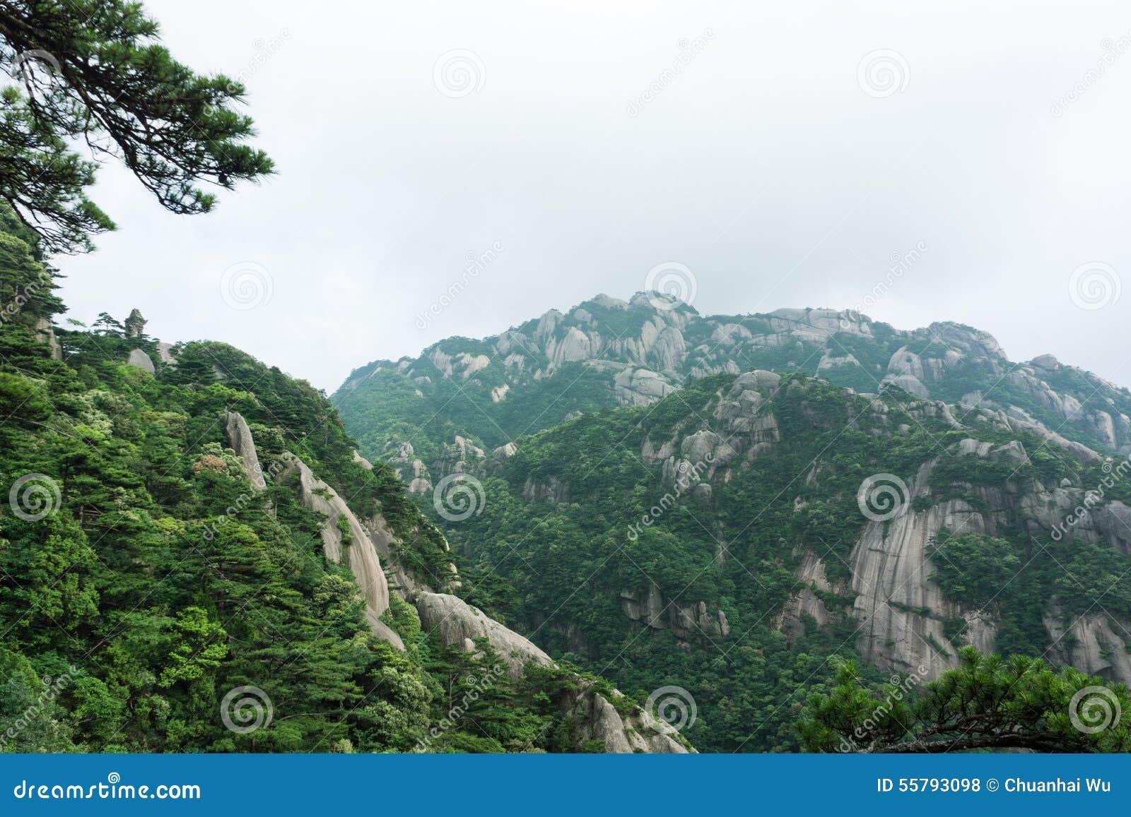 Belle montagne de Huangshan en Chine