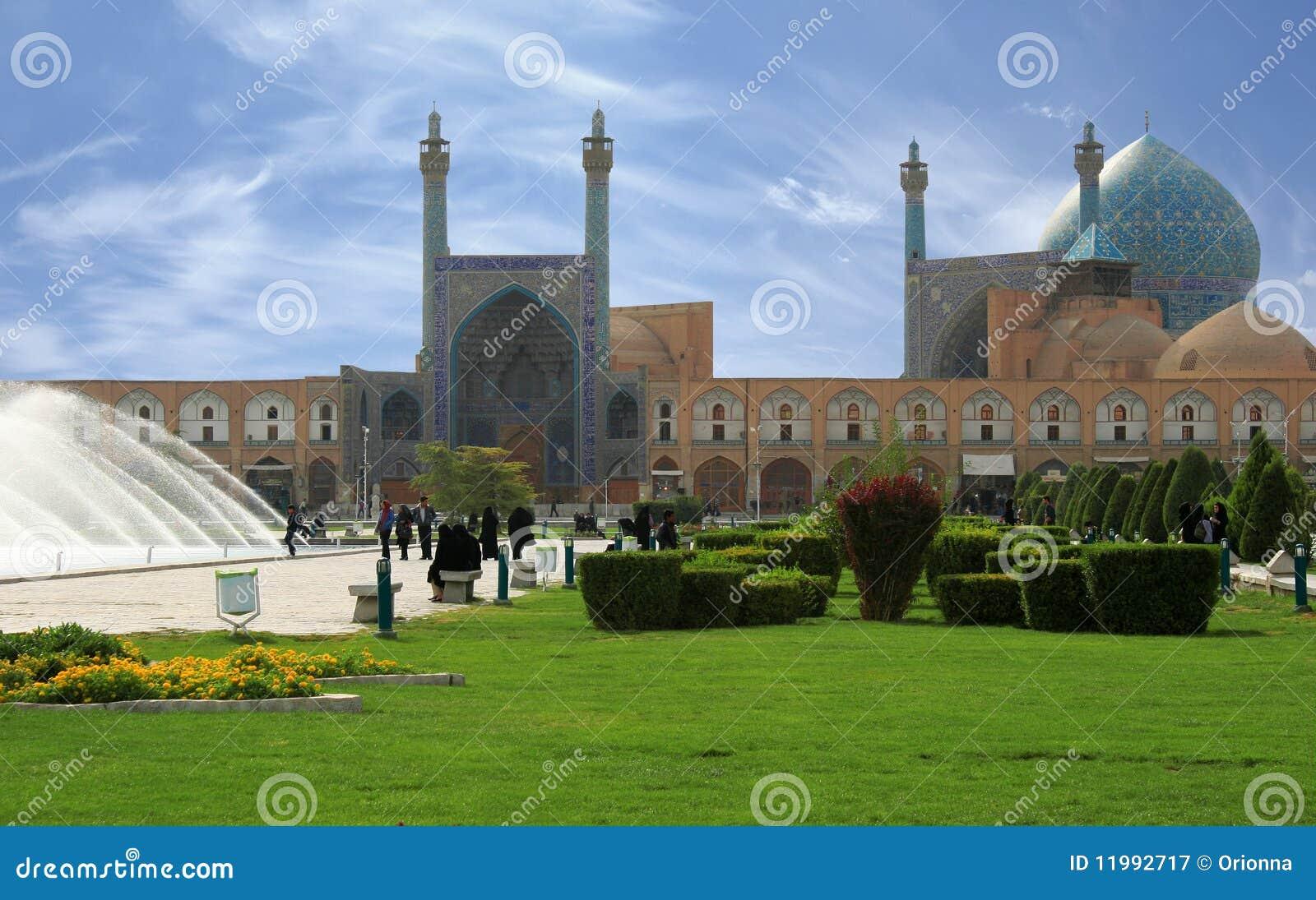 Belle mosquée d Esfahan, Iran, chemin compris