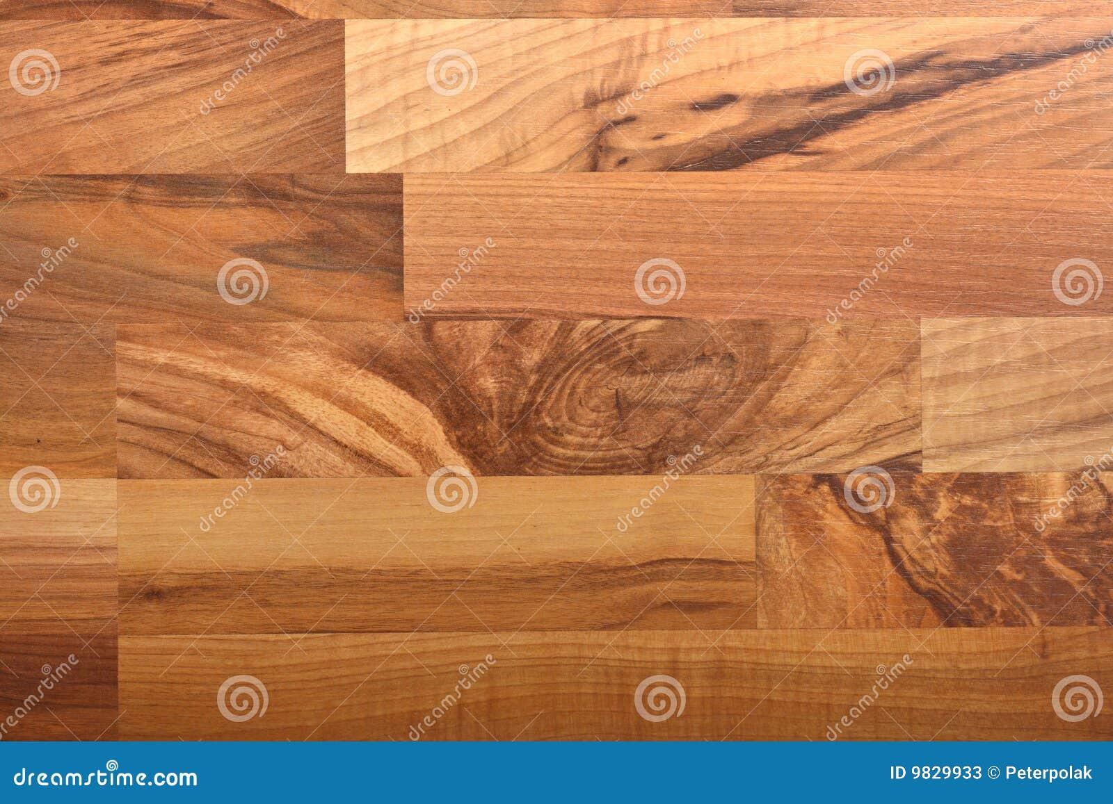Belle noix de texture de stratifié de plancher