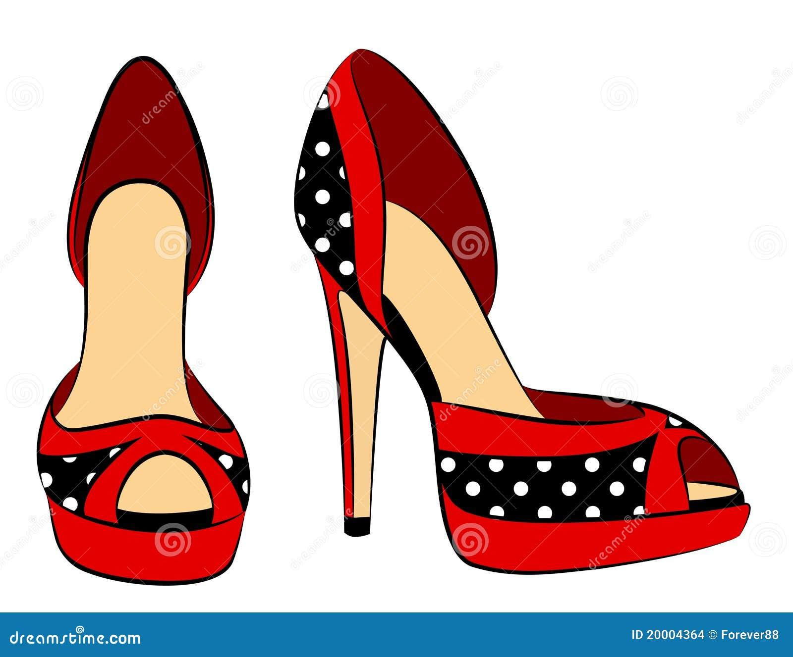 belle paire de chaussures avec le haut talon images stock. Black Bedroom Furniture Sets. Home Design Ideas