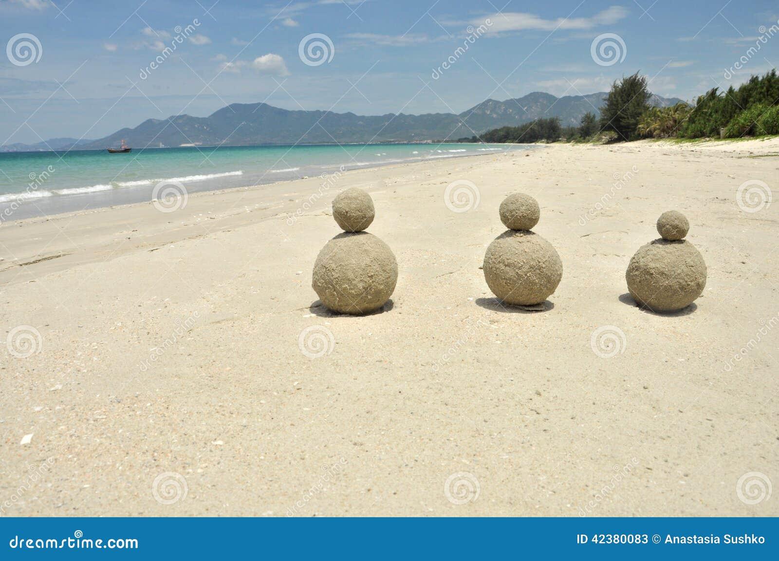 Belle plage blanche de sable au Vietnam