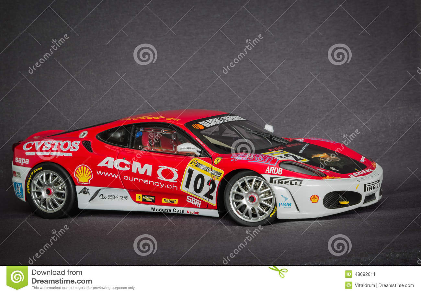 Belle vue avec du charme de mod le miniature de voiture de - Photo voiture de course ferrari ...
