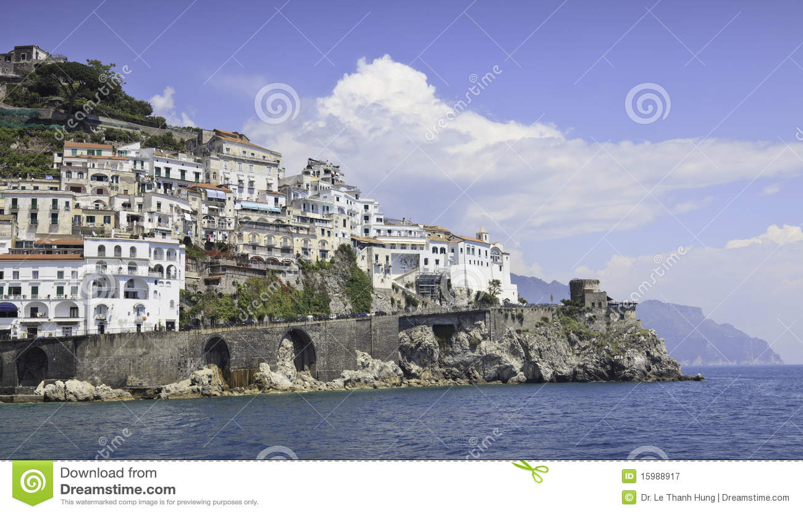 Belle vue panoramique d Amalfi