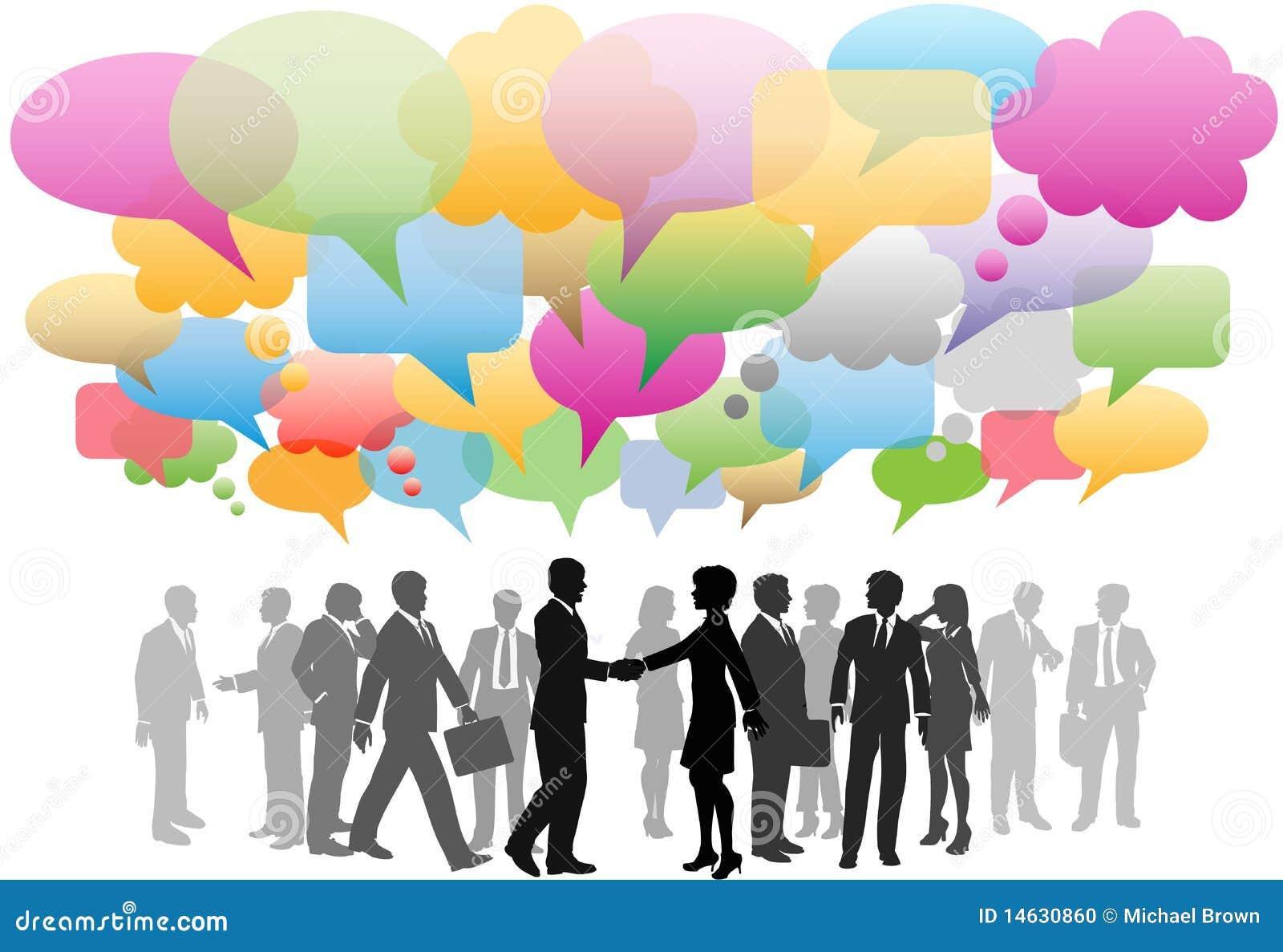 Bellen van de bedrijfs de sociale media netwerktoespraak