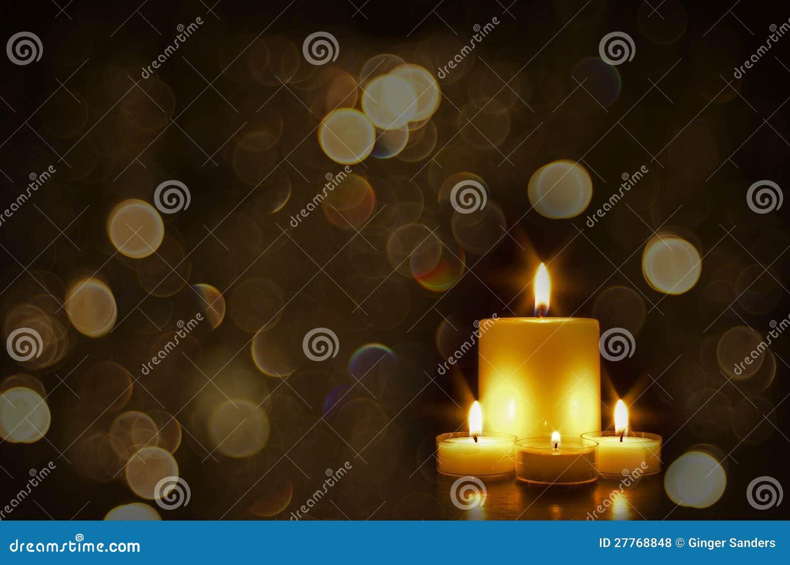 Belles bougies d or avec Bokeh