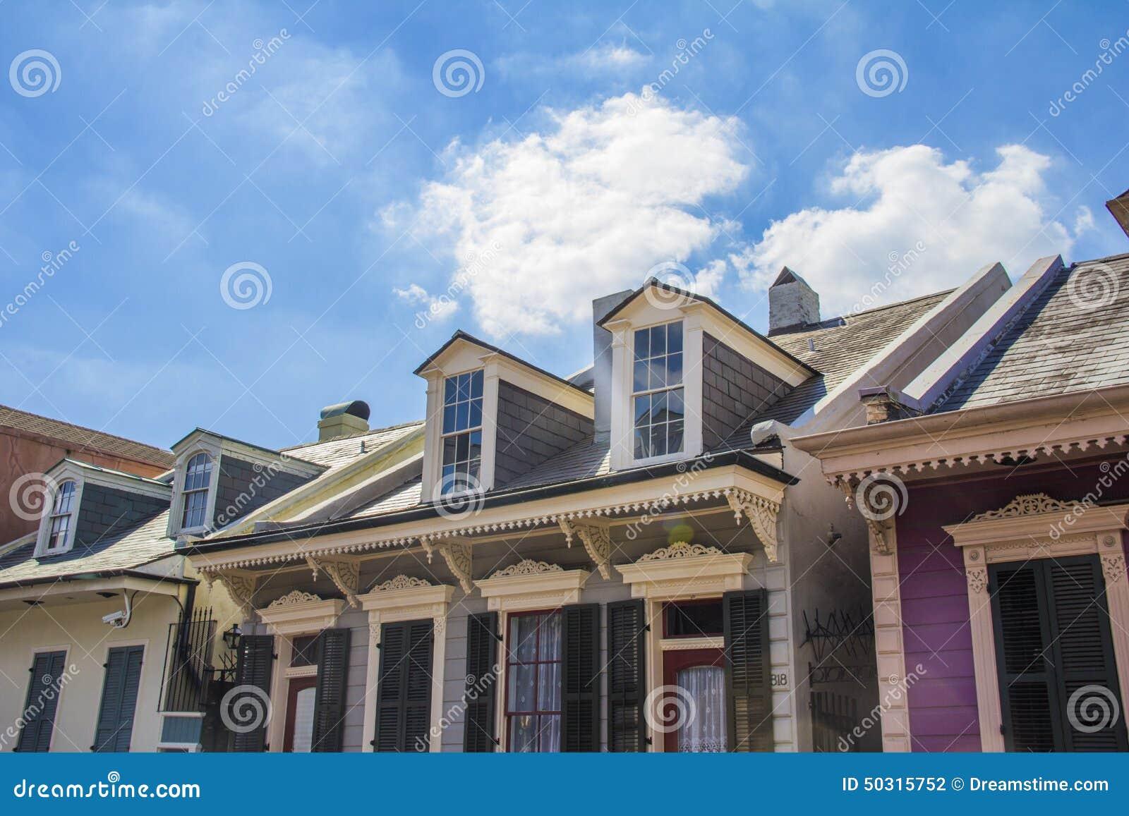 Belles Maisons Et Ciel Bleu Photo Stock Image Du Color